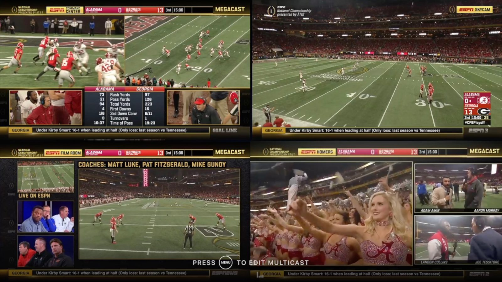espn tv sports multicast hands lets four apple streams