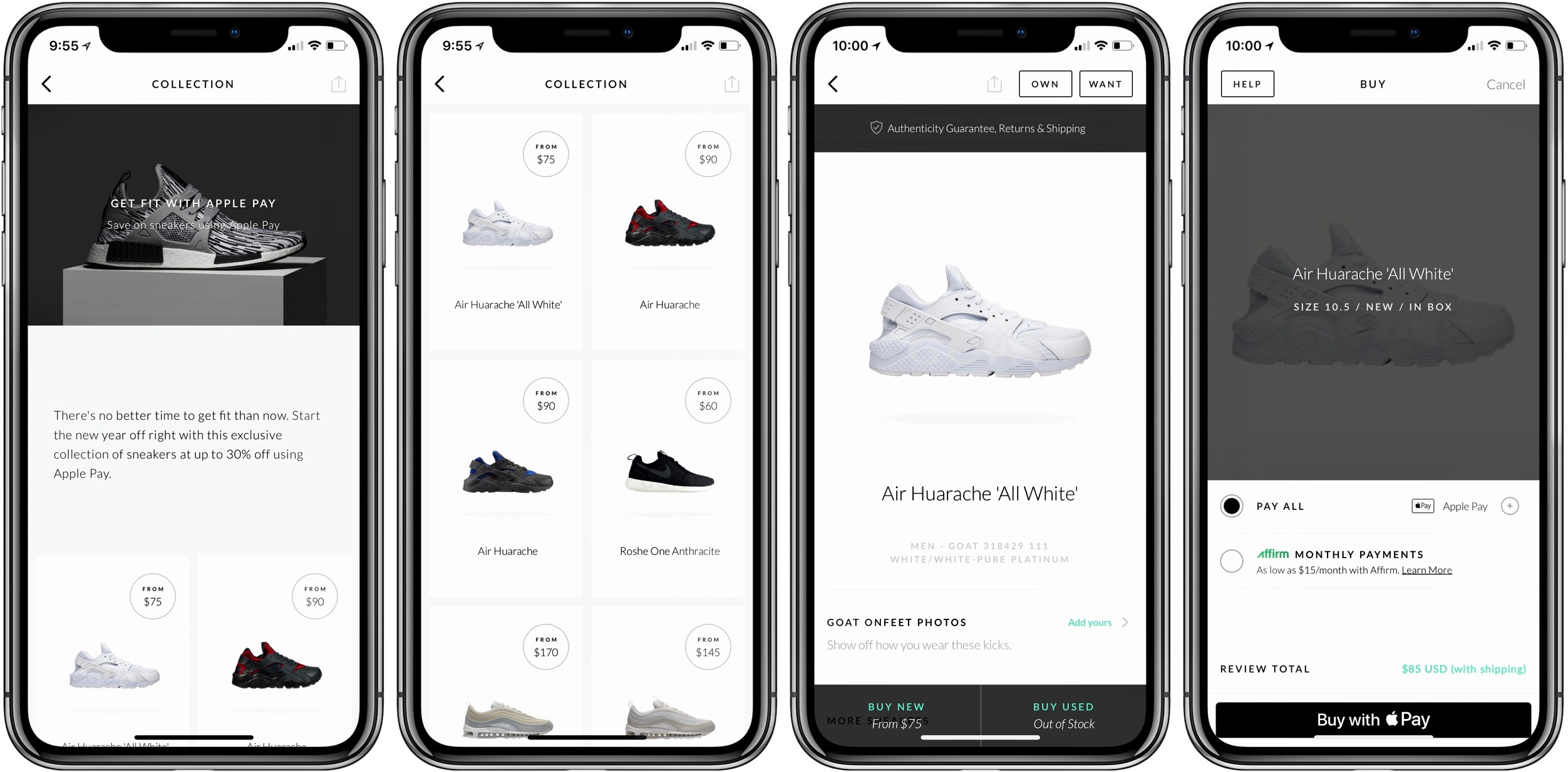 Apple Pay promotion brings up to 30% off sneakers through GOAT app