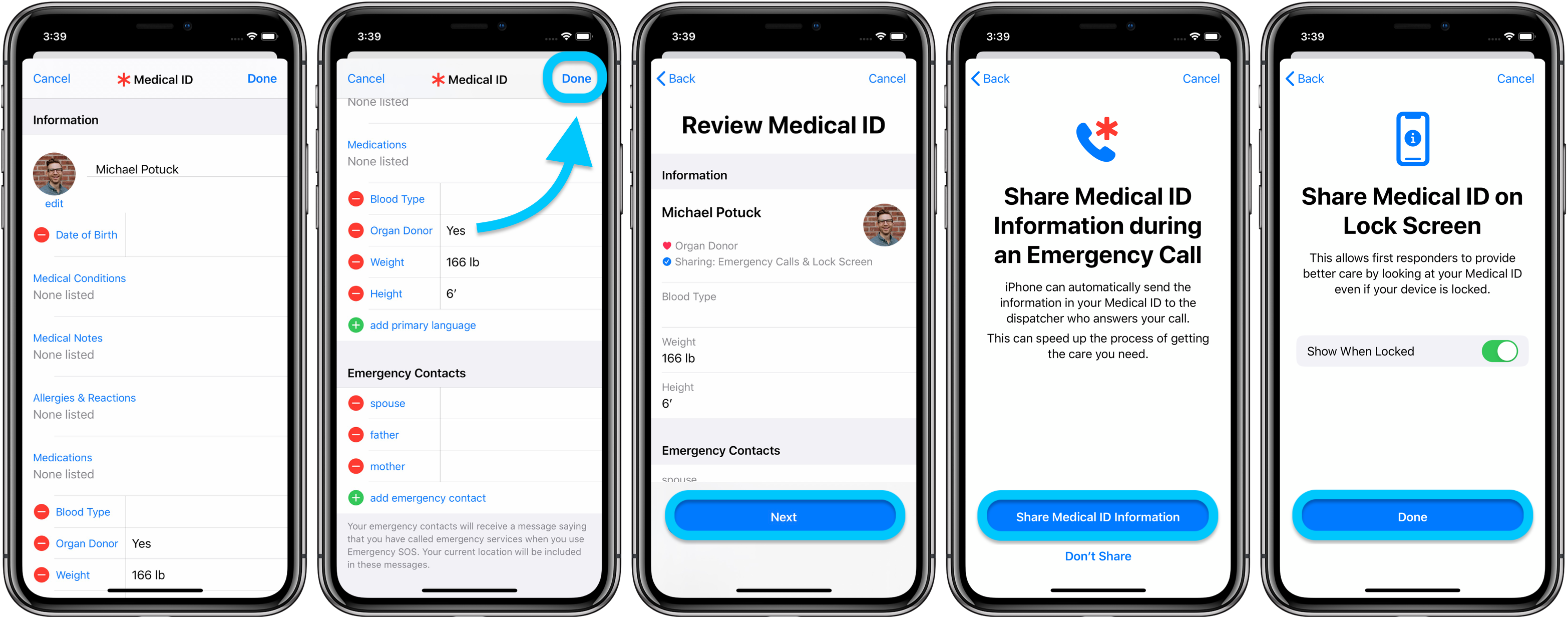 How to set up Medical ID iPhone Apple Watch walkthrough