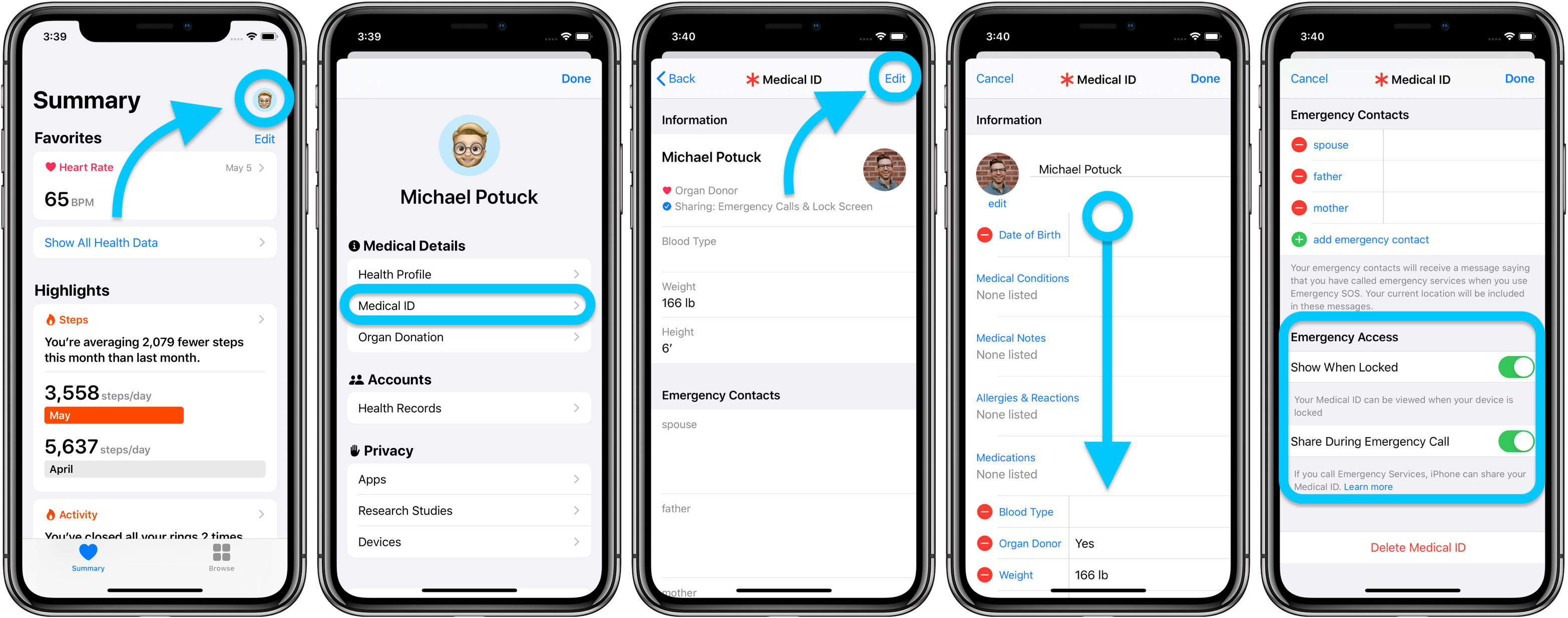 How to set up Medical ID iPhone Apple Watch walkthrough 2