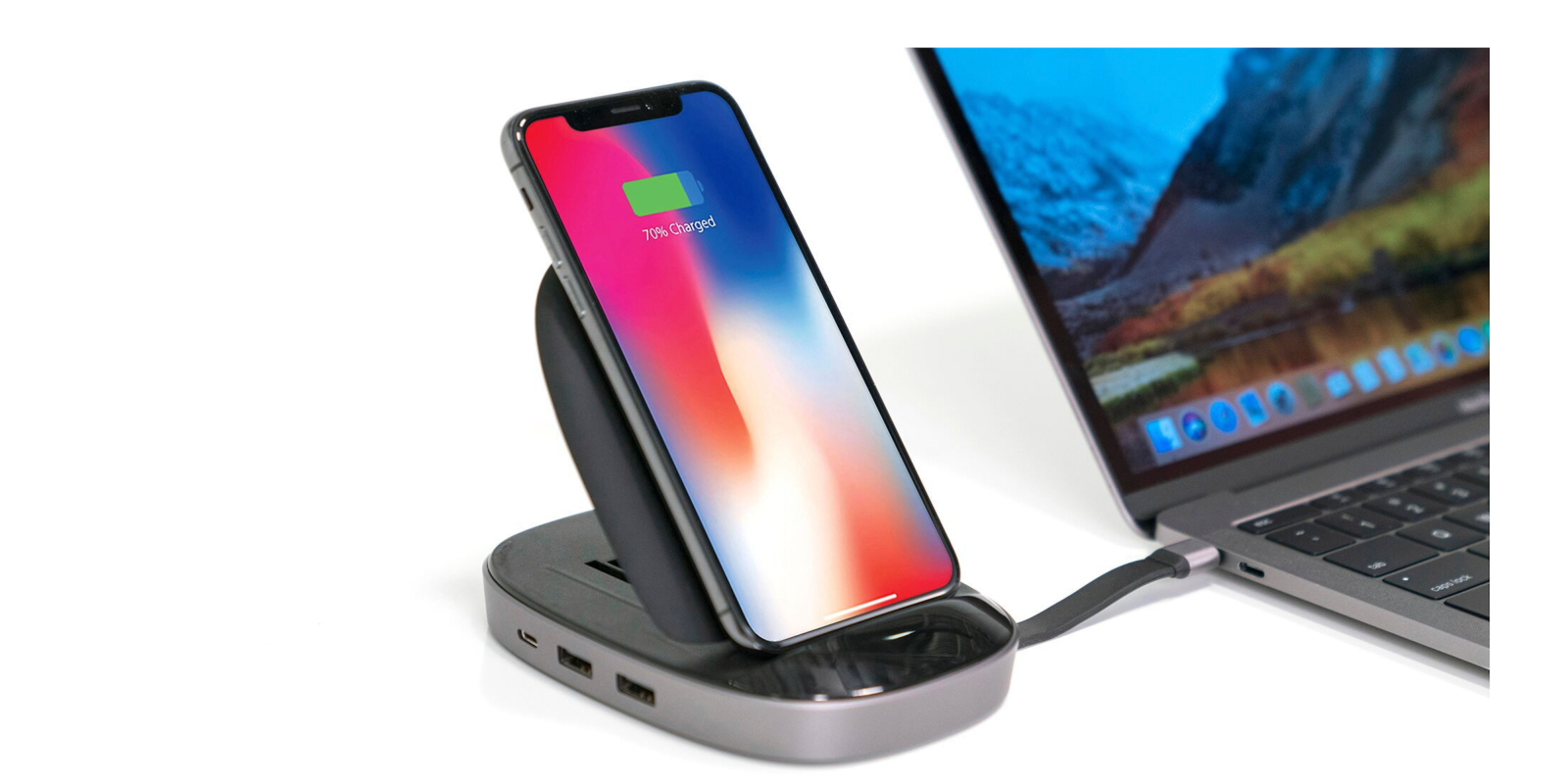 Hyper's combo 8-in-1 USB-C Hub + 7.5W Qi wireless charger & iPhone stand goes up for preorder