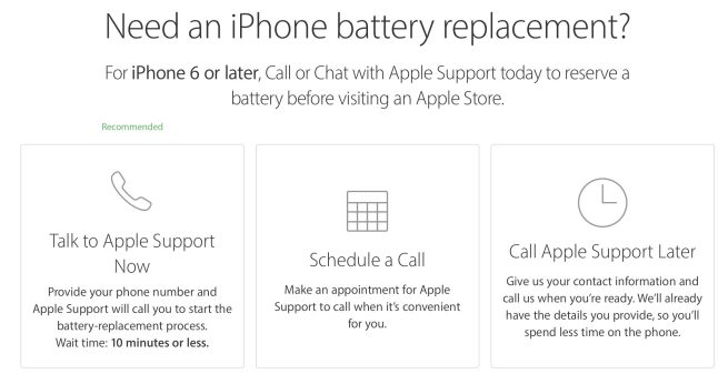 apple store battery replacement