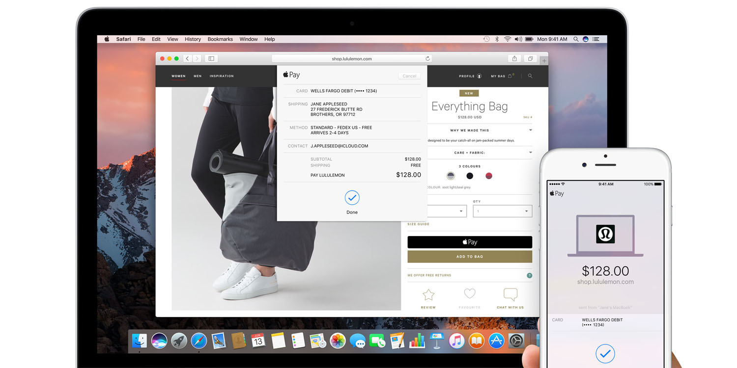 Online stores with apple pay