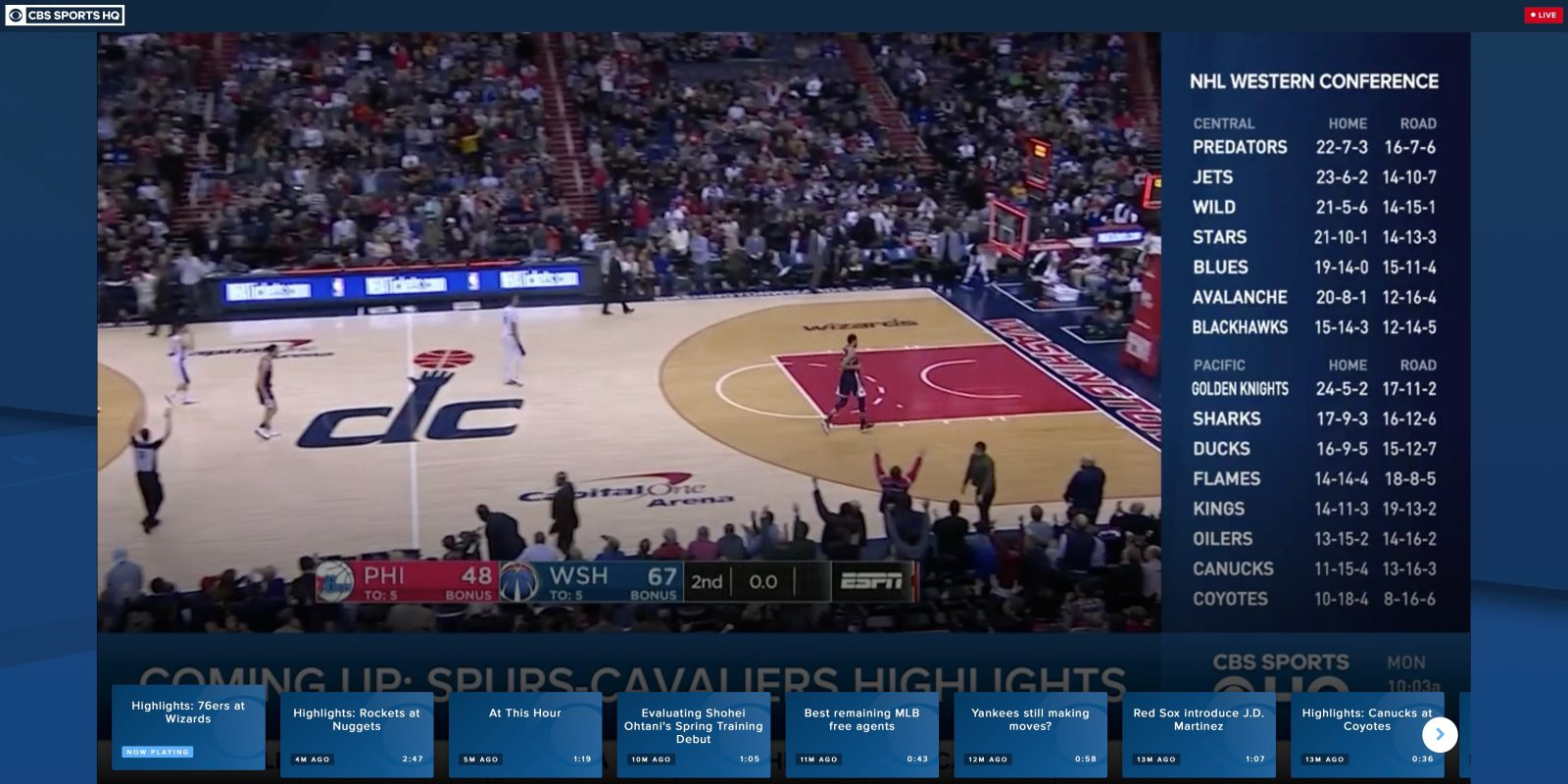 CBS Sports HQ is the latest streaming sportscast channel on Apple TV