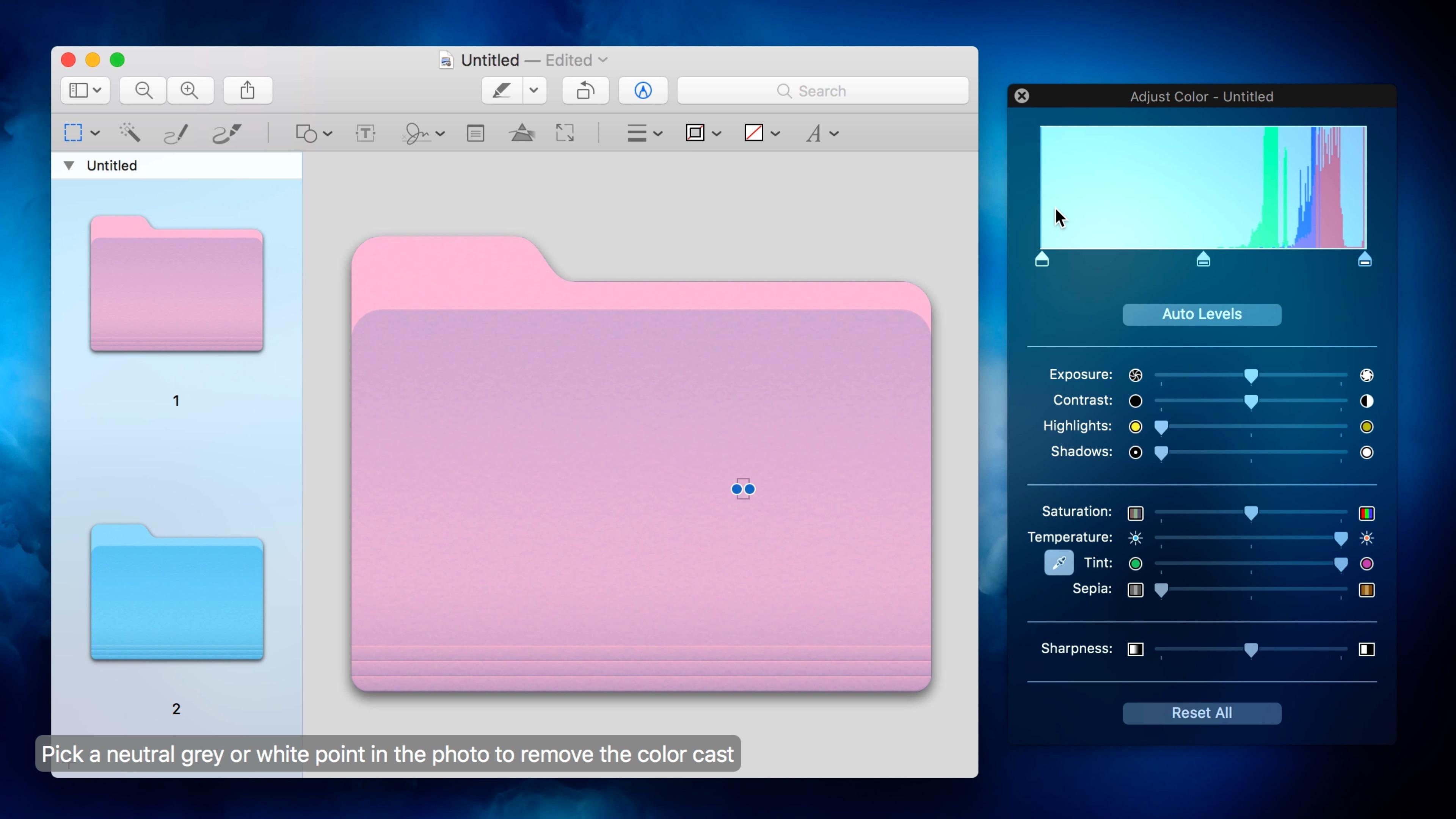 How to make folders on mac