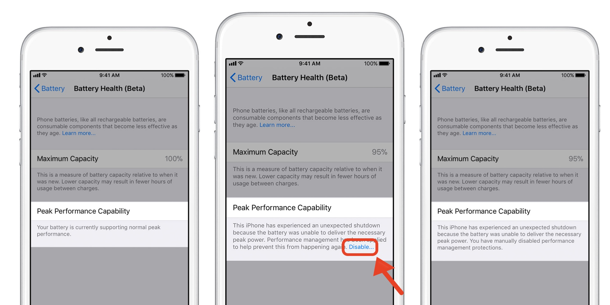How to check battery health and disable battery performance throttling in iOS 11.3 beta