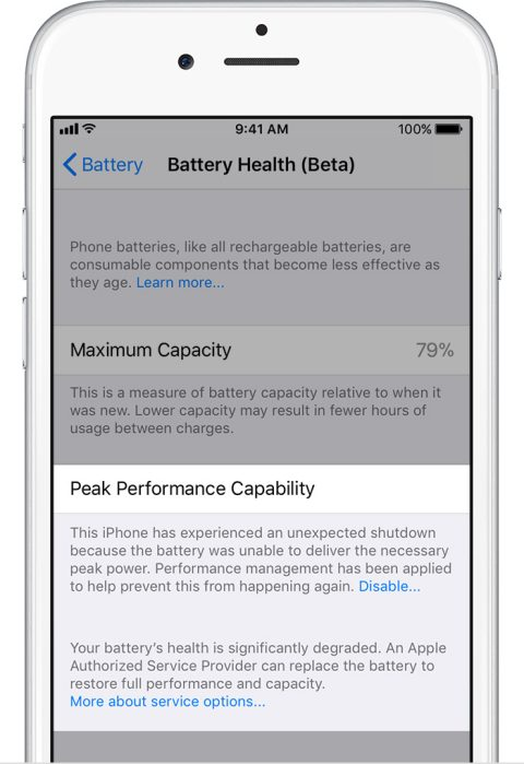 promo code 0318b 0dfd8 How to check battery health and disable iPhone battery performance ...