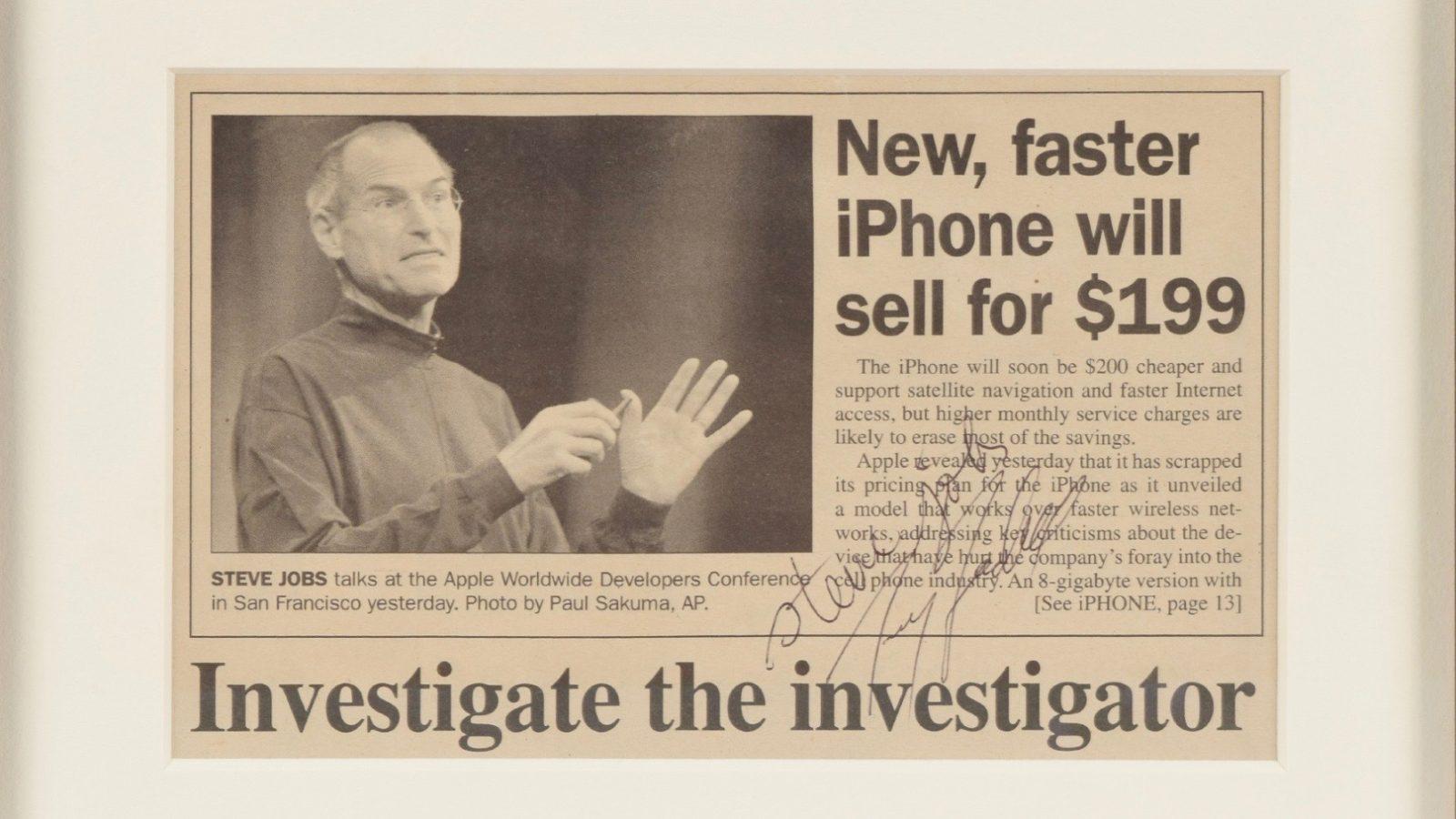 Steve Jobs Signed Mac Os X Manual Employment Application