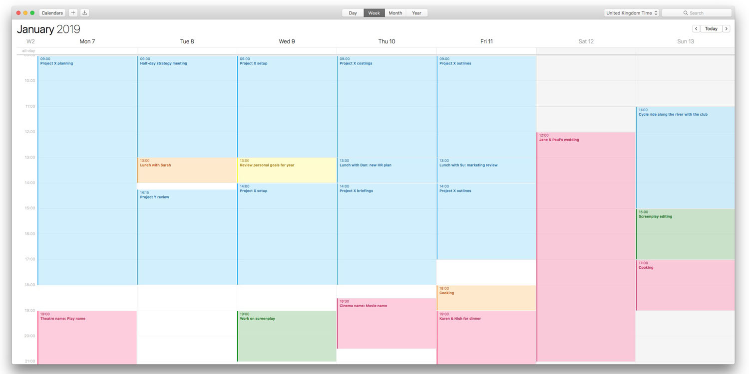 How to use color-coded calendars on Mac, iPhone and iPad to