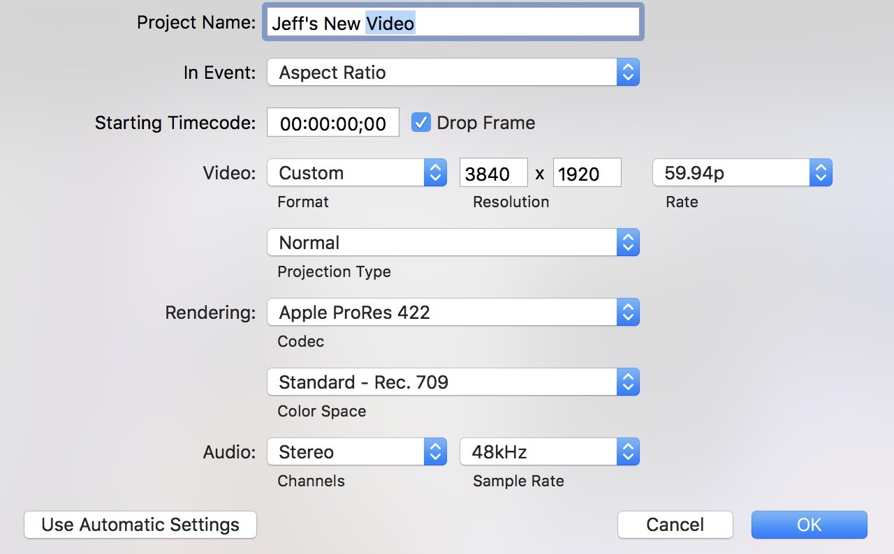 How to compose 2:1 video in Final Cut Pro X that's better formatted