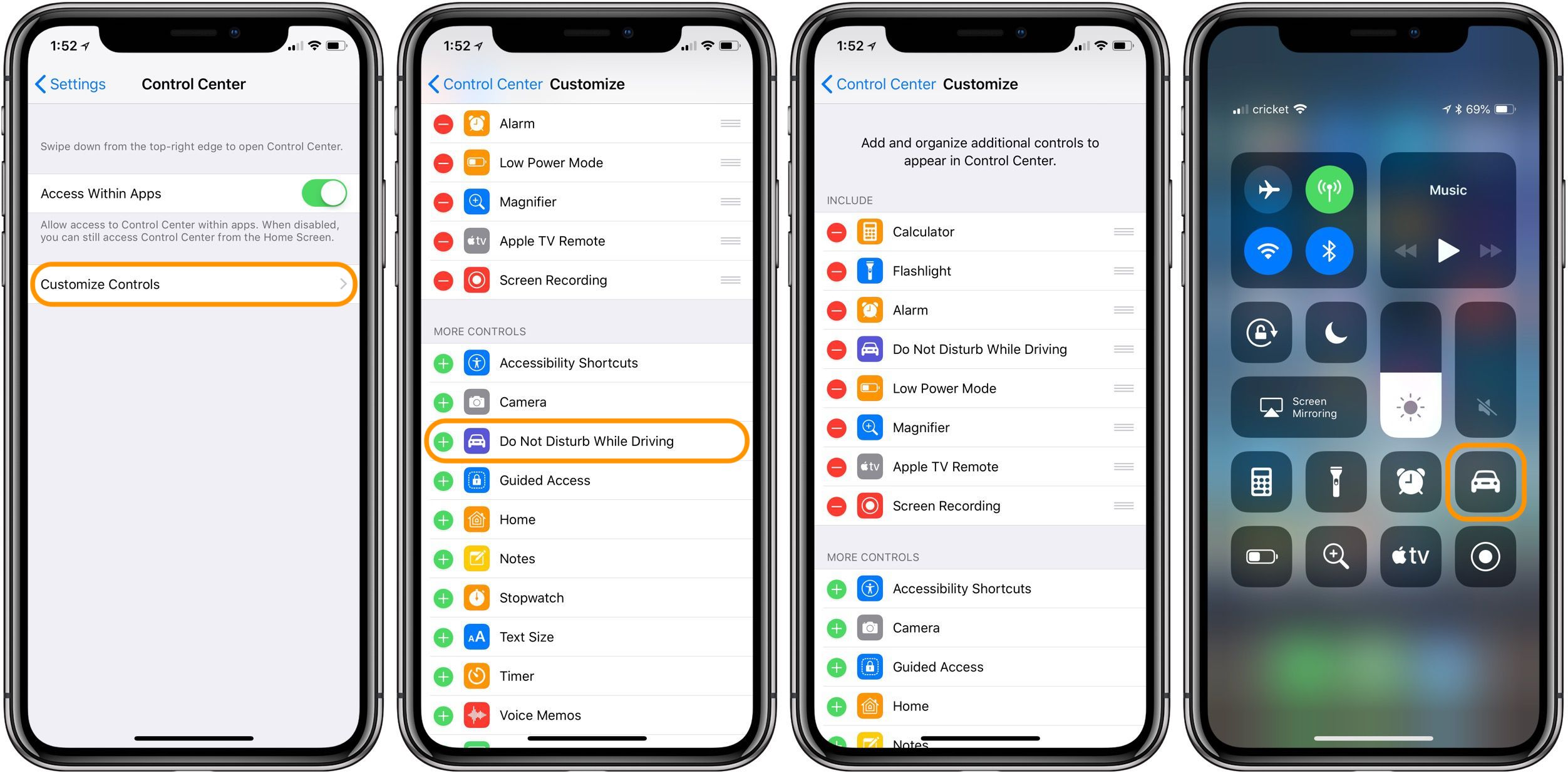How to customize Do Not Disturb While Driving settings on