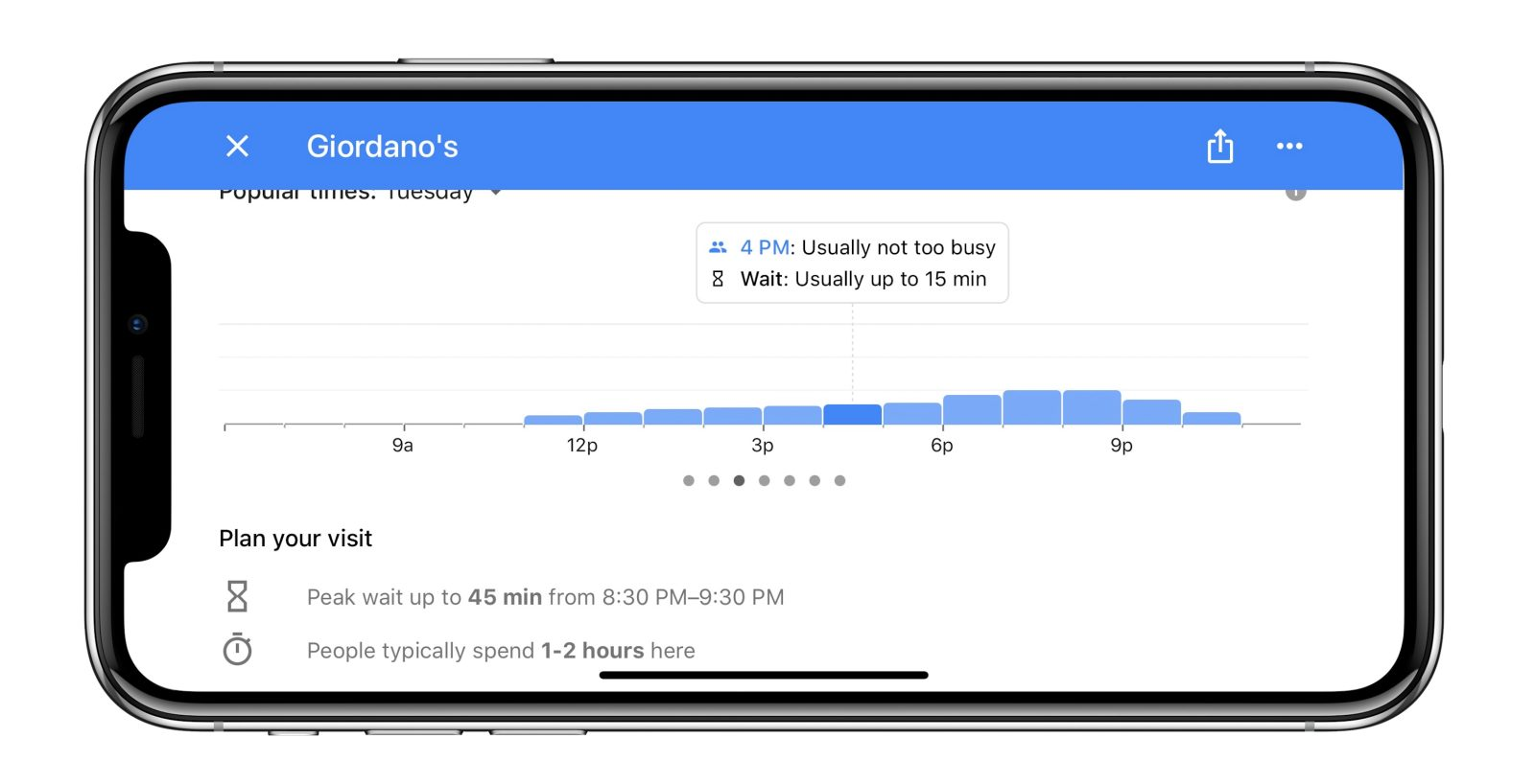 Google Maps for iOS adds restaurant wait times, additional transit