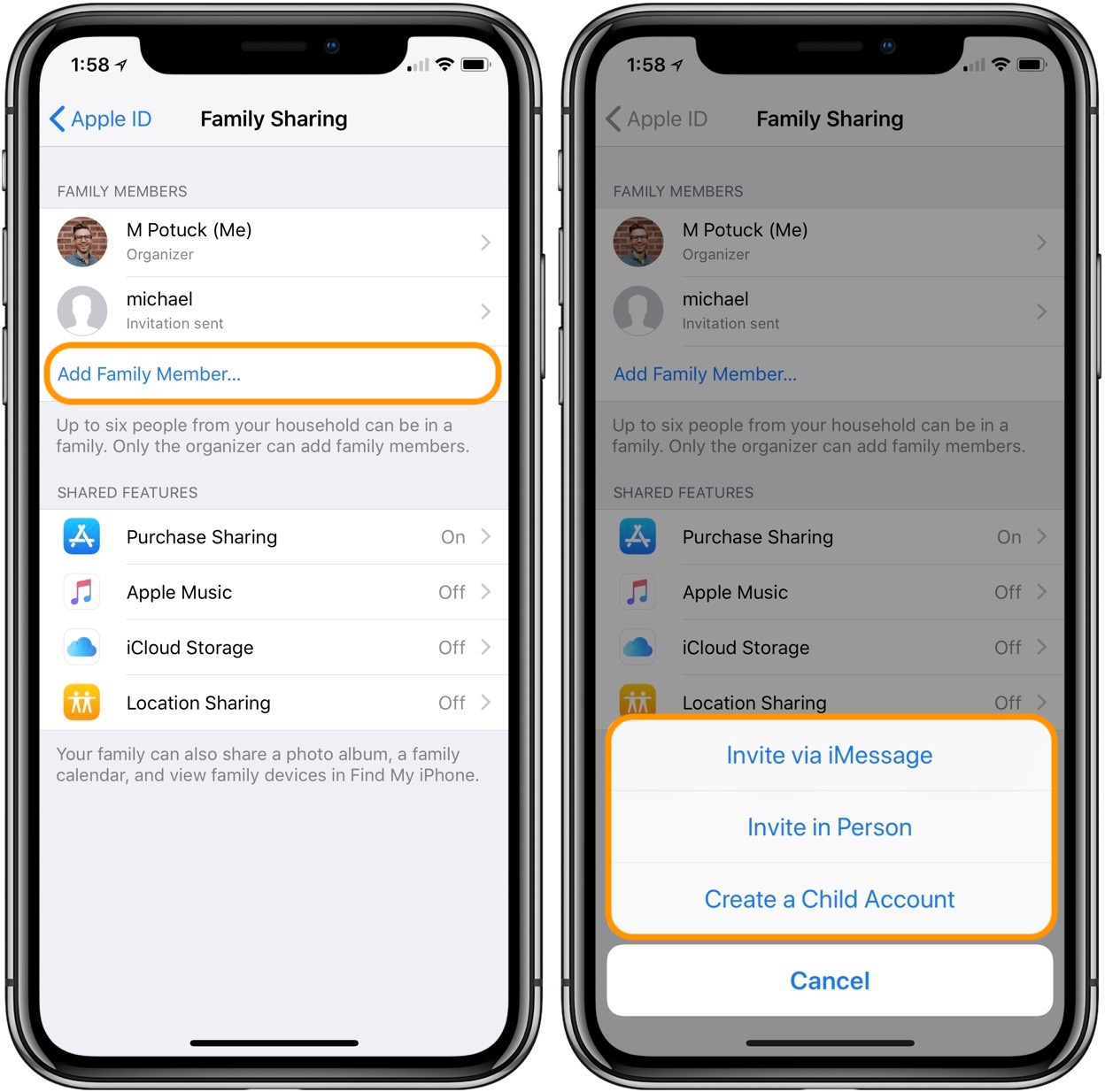 How to set up Family Sharing and create a child's Apple ID