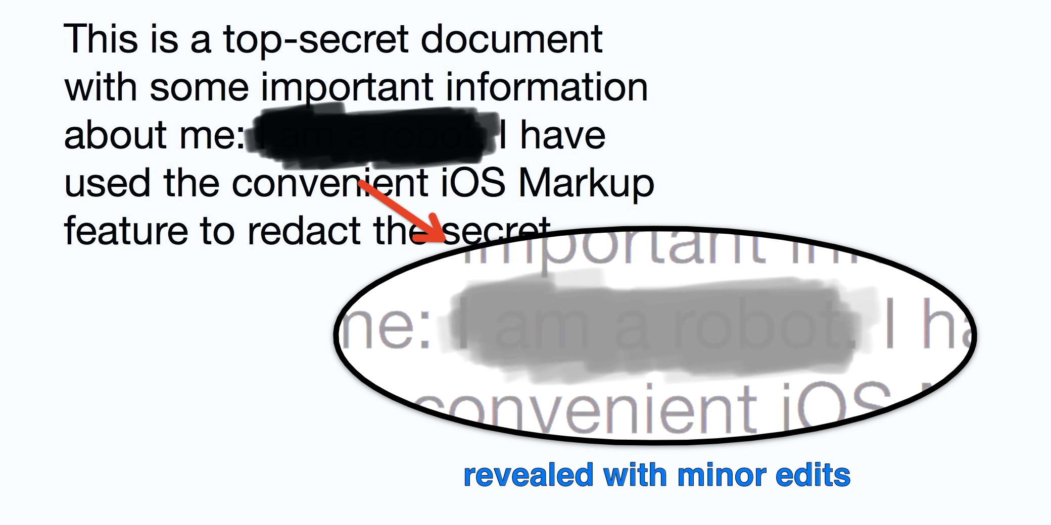 Psa Ios Markup Is Not Designed To Be A Redaction Tool For Sensitive