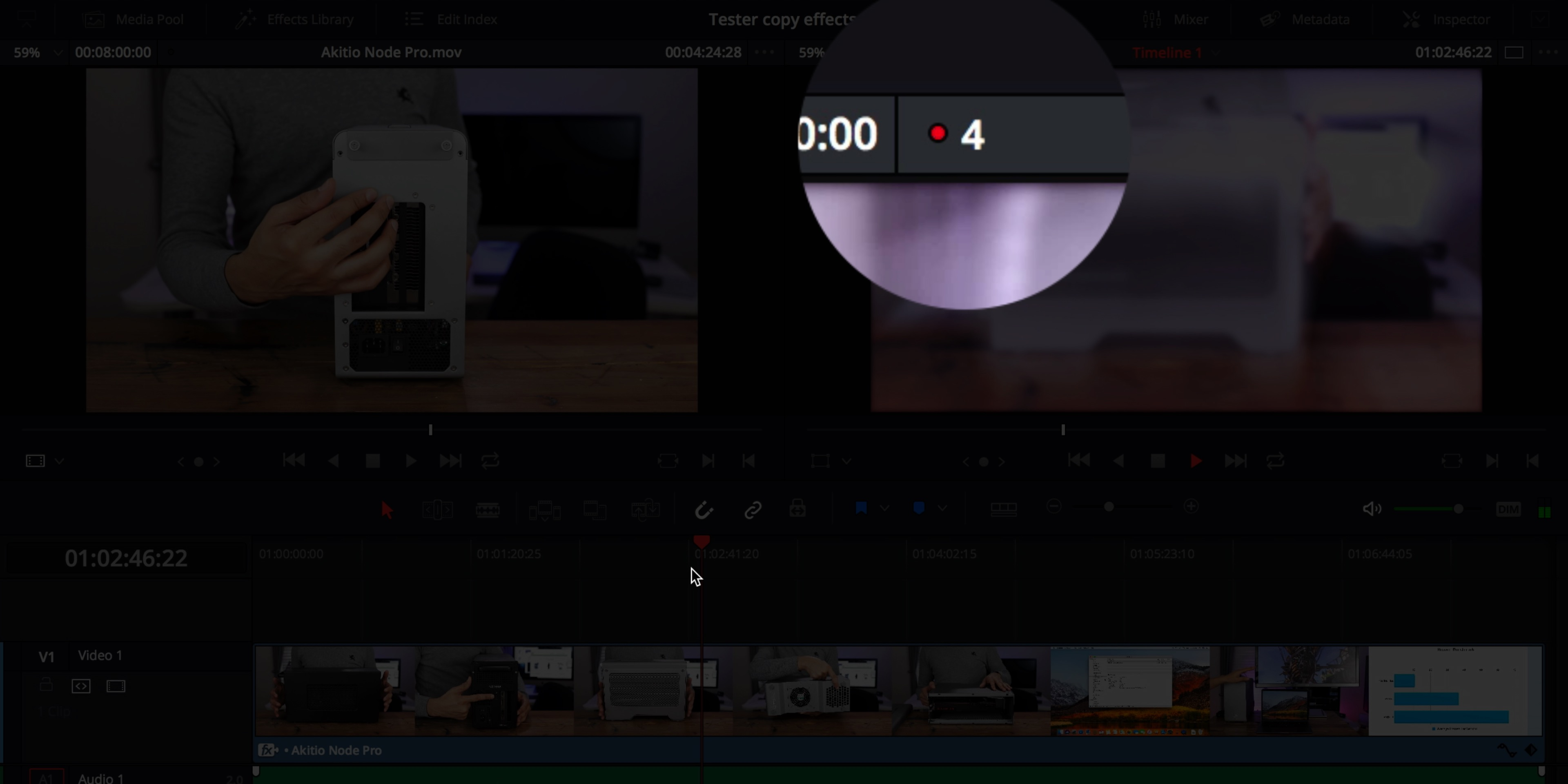 Hands-on: DaVinci Resolve's eGPU-accelerated timeline performance