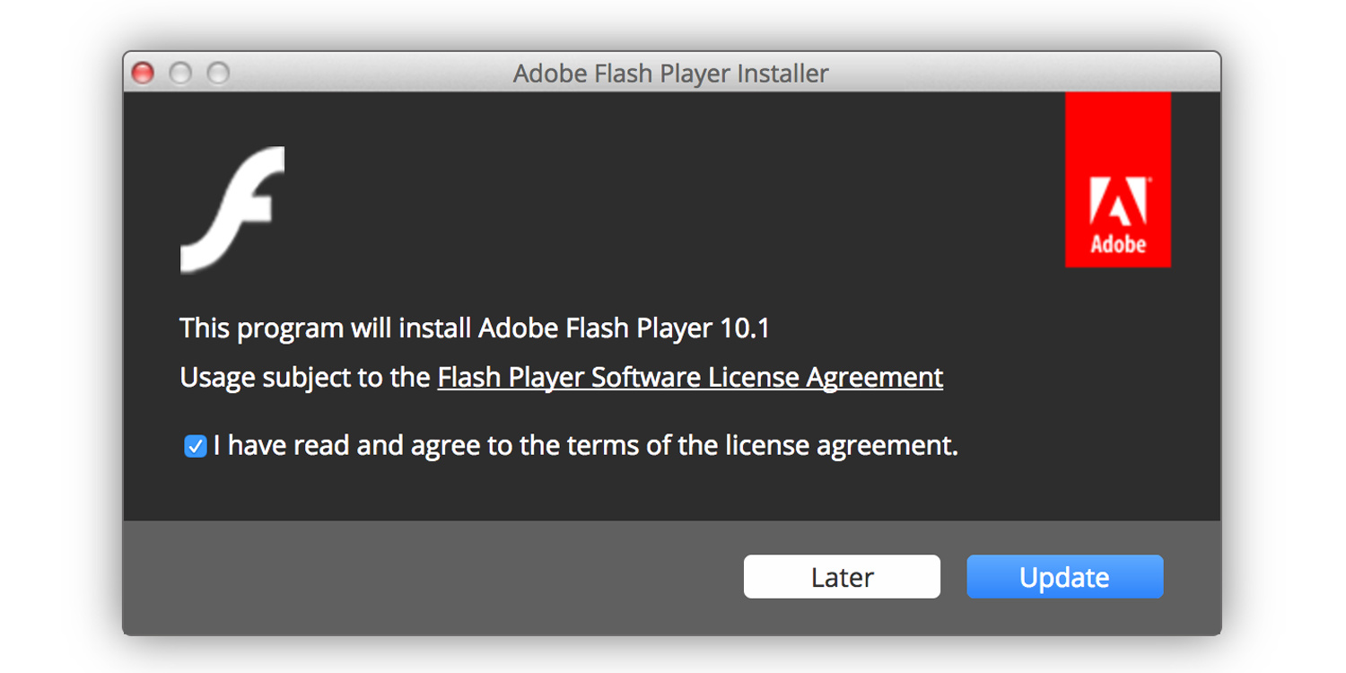 adobe flash player mac 10.9.5