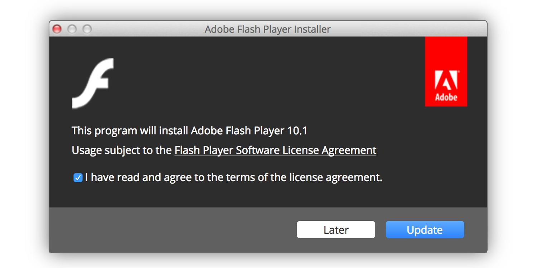 adobe flash player mac 10.9.5