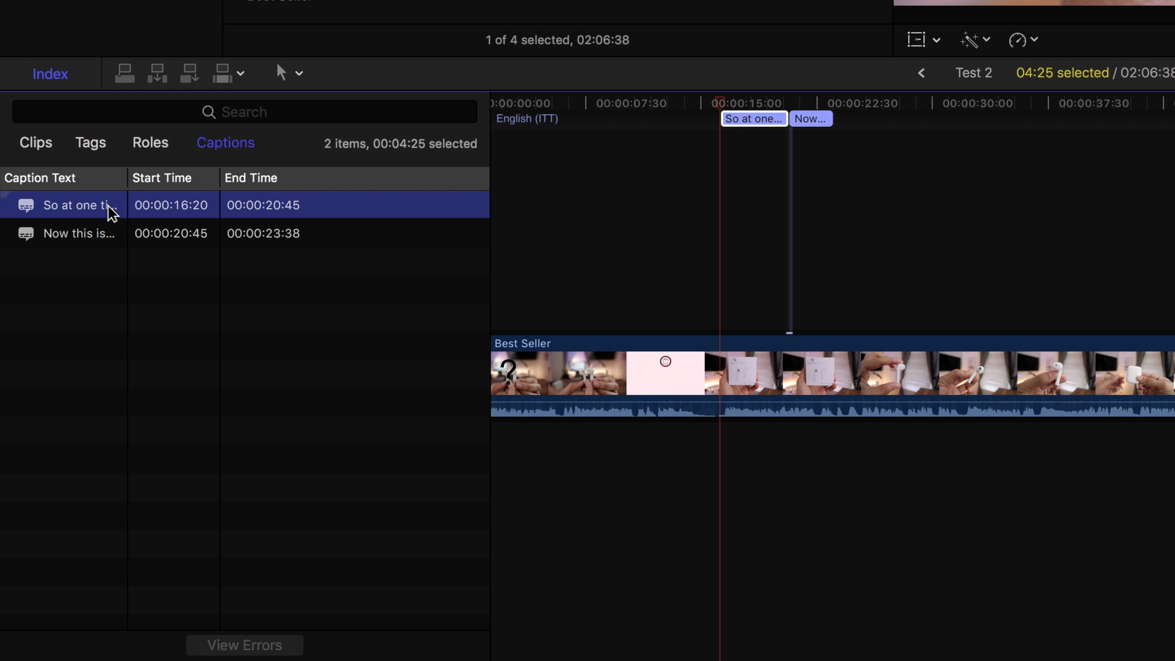 FCP X Tips 002: Closed captions in Final Cut Pro 10 4 1