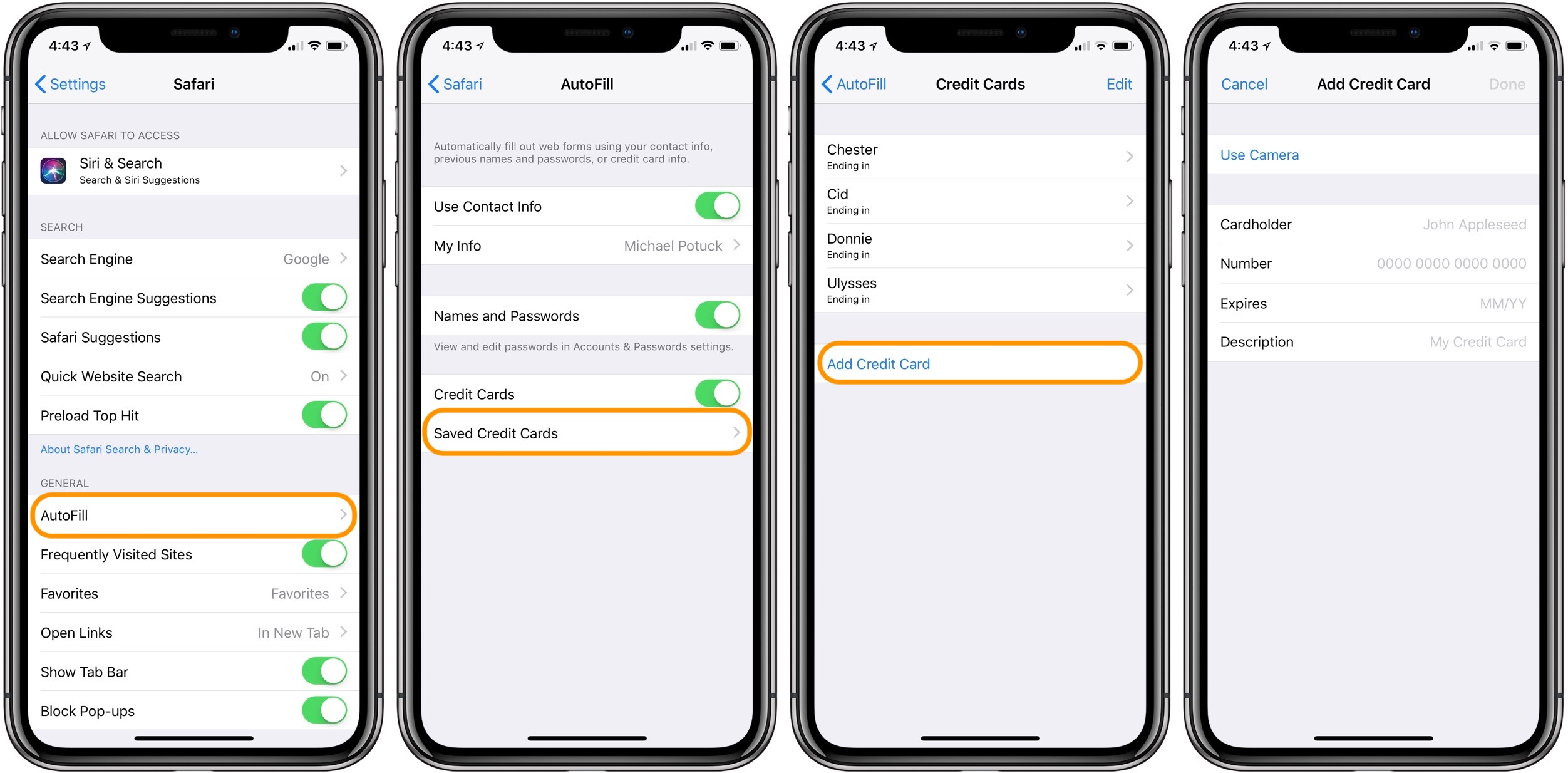 File Check Out Card how to add credit cards to safari's autofill on iphone - 9to5mac