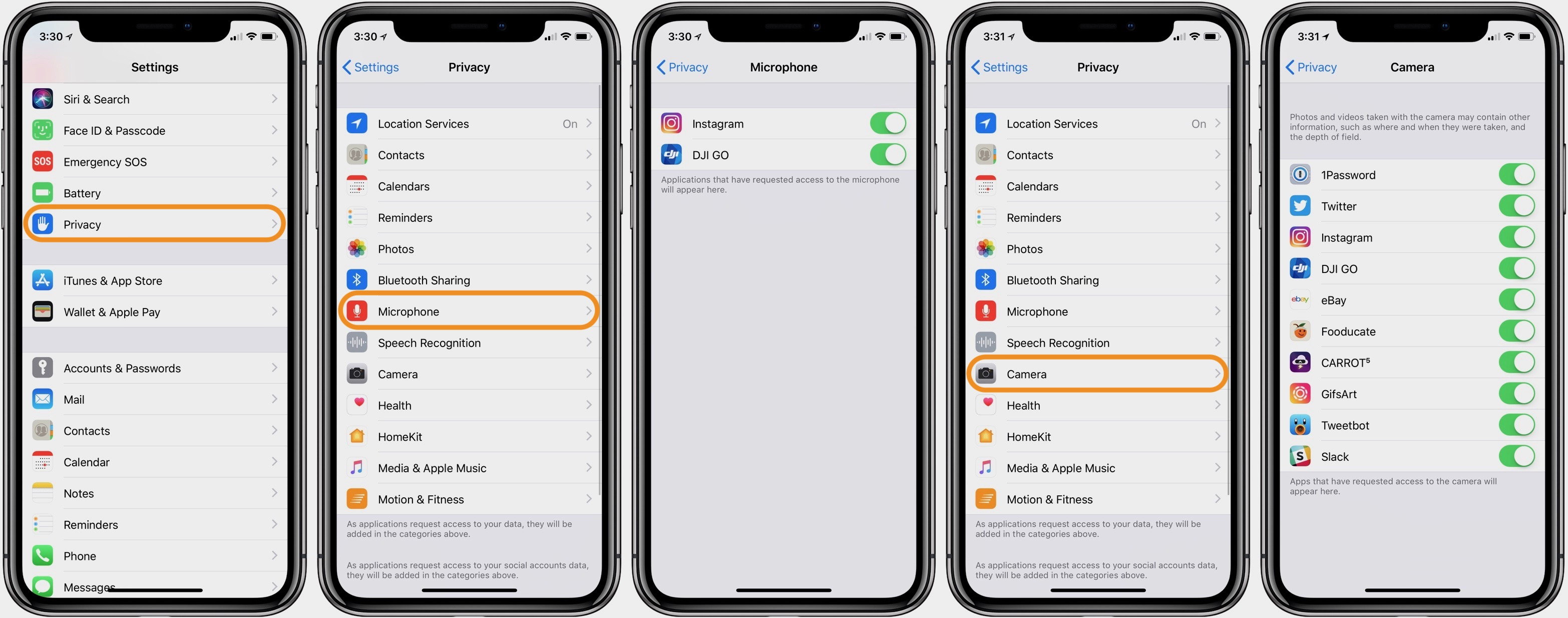 How to check which apps have access to your iPhone's camera and