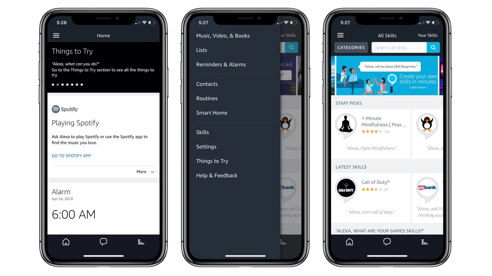 get cheap 27582 fcbc4 Amazon updates its Alexa companion app for iOS with iPhone X ...