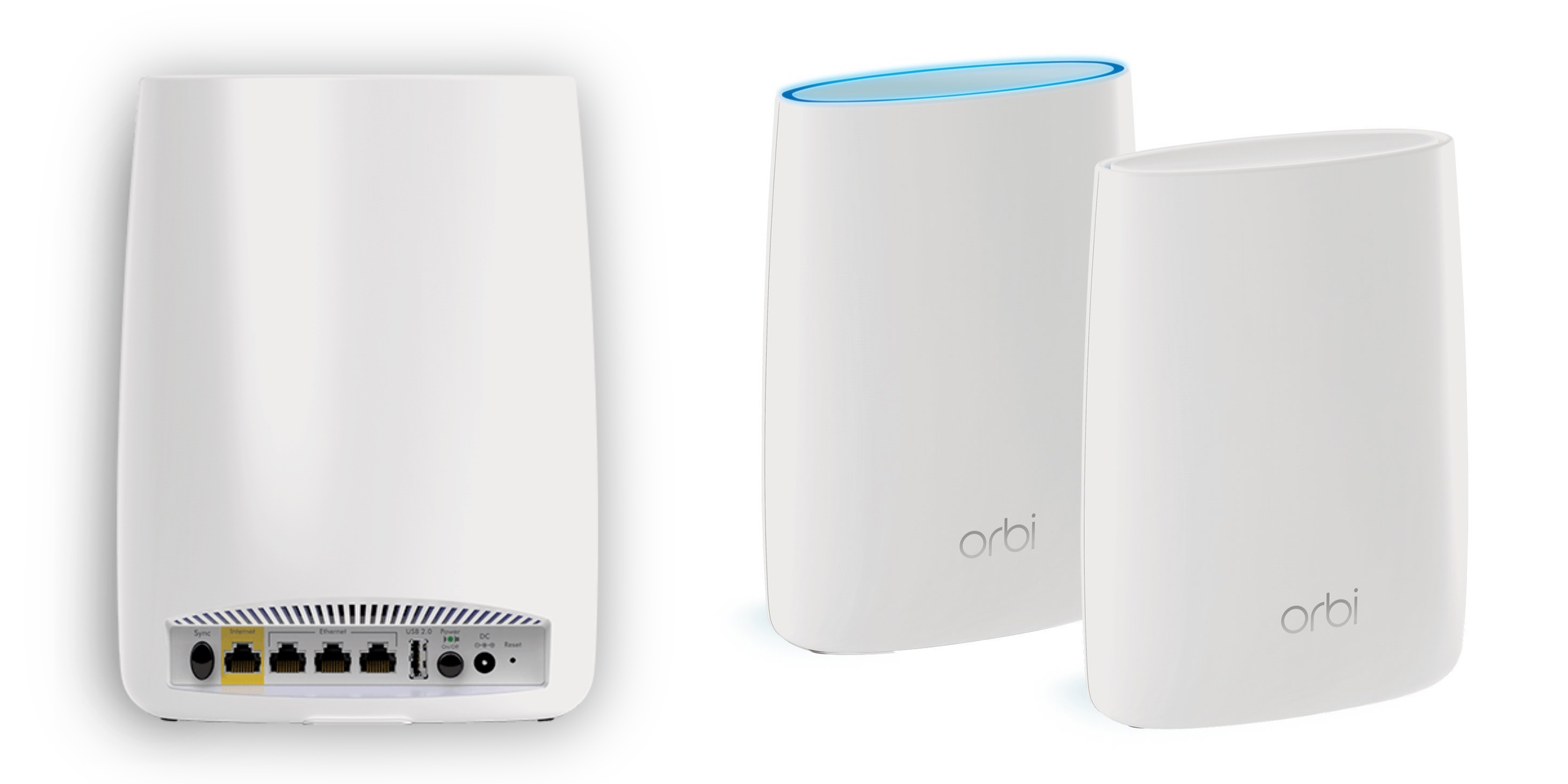 NETGEAR Orbi Whole Home Mesh WiFi System WiFi router and 2 satellite extend...