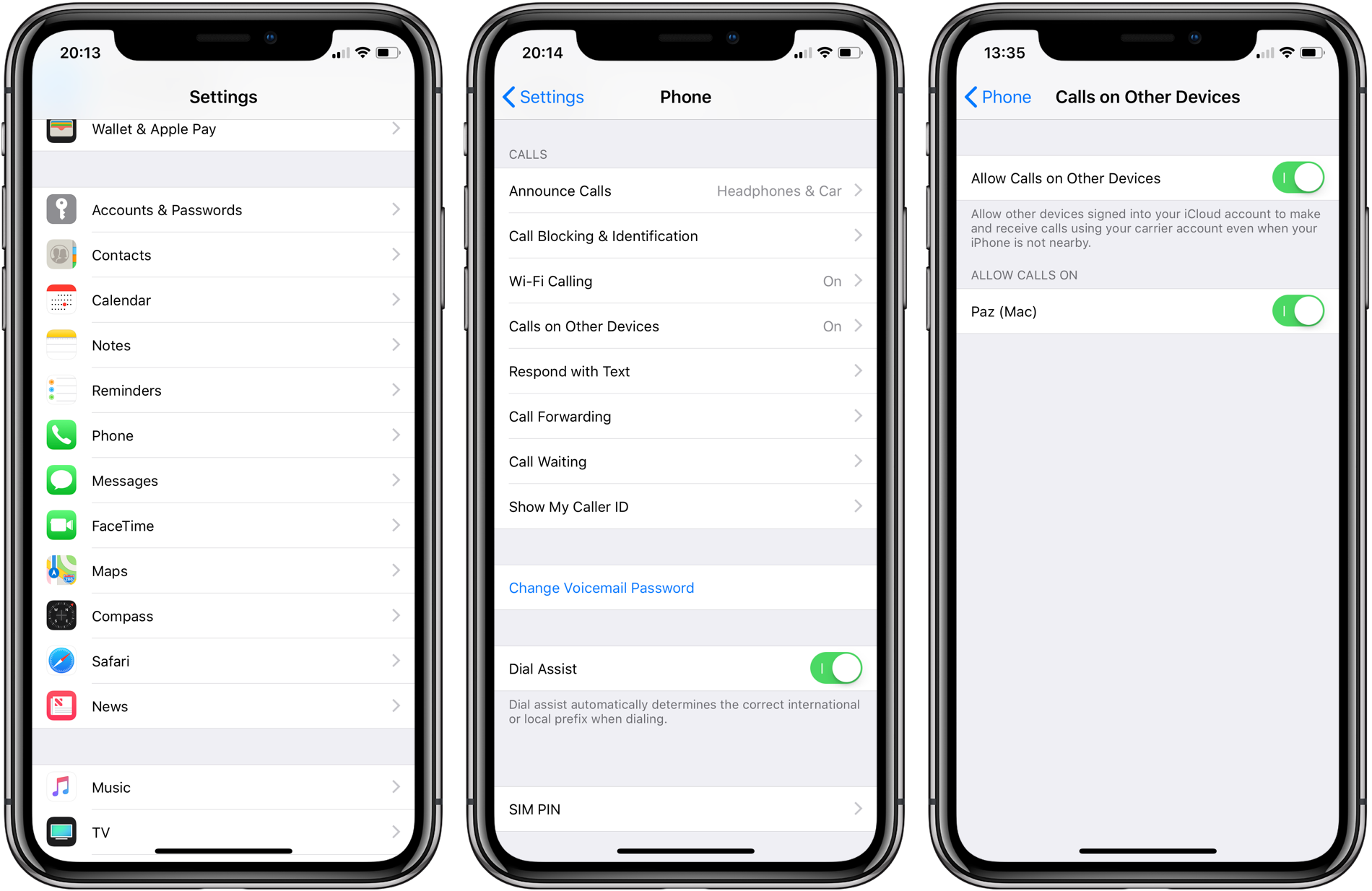 make cell phone calls from mac