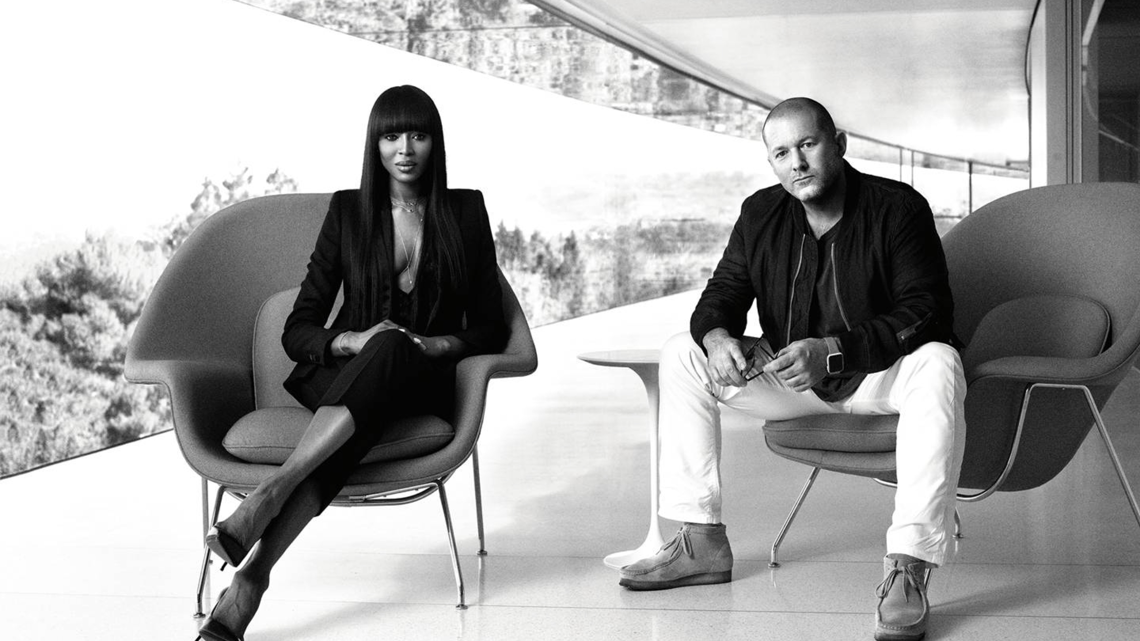 Jony Ive discusses secrecy, design exhibition sponsorship in interview with model Naomi Campbell