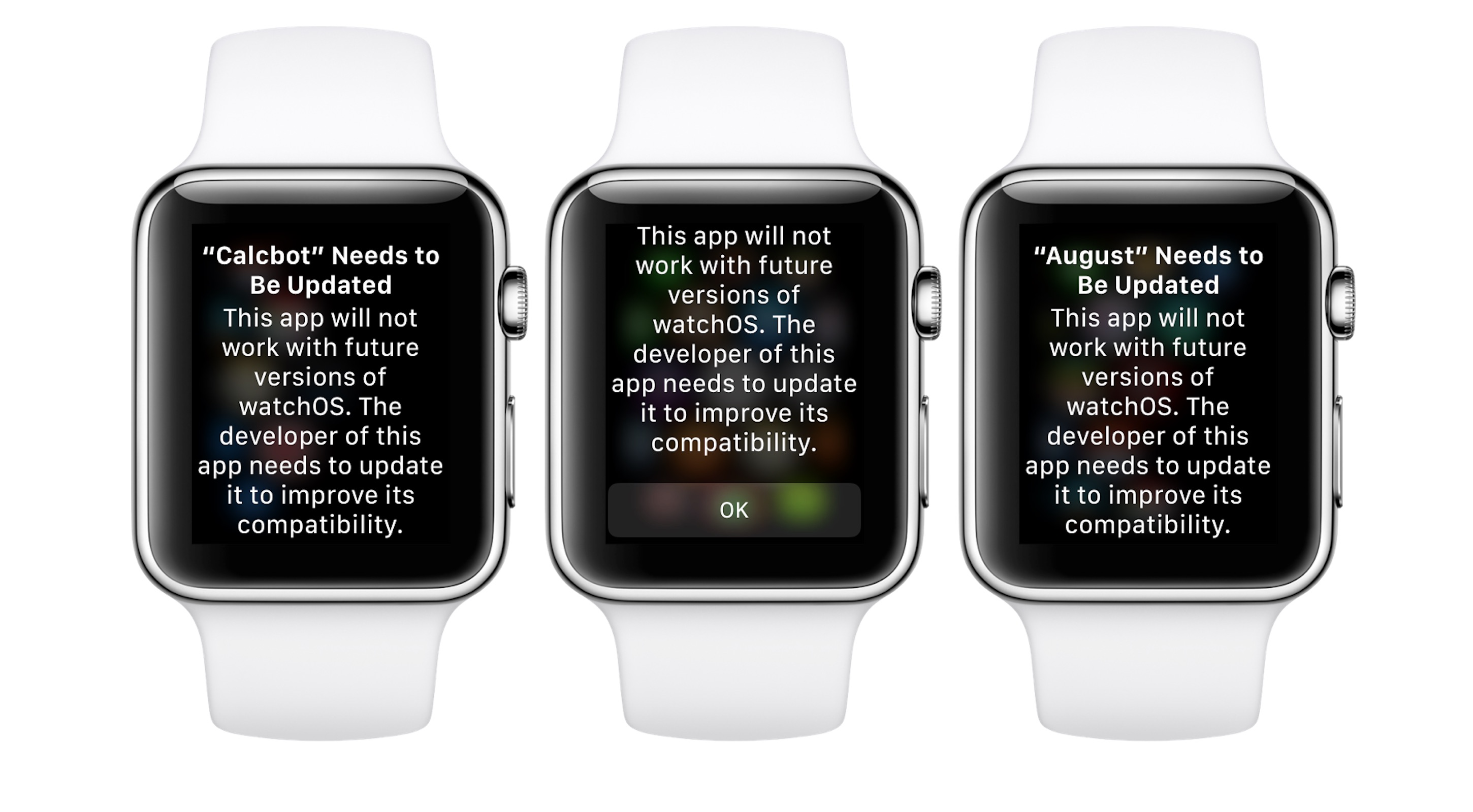 Apple Watch beta includes warning for old apps, suggests watchOS 5 will drop support