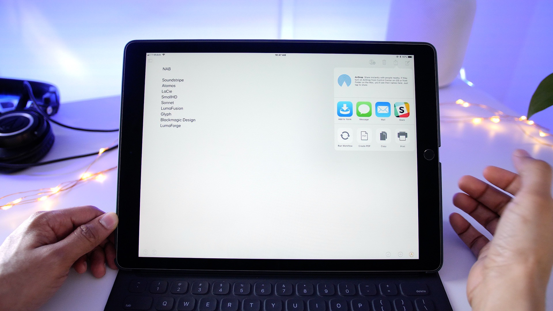 How I use my iPad: Yoink – a powerful drag and drop