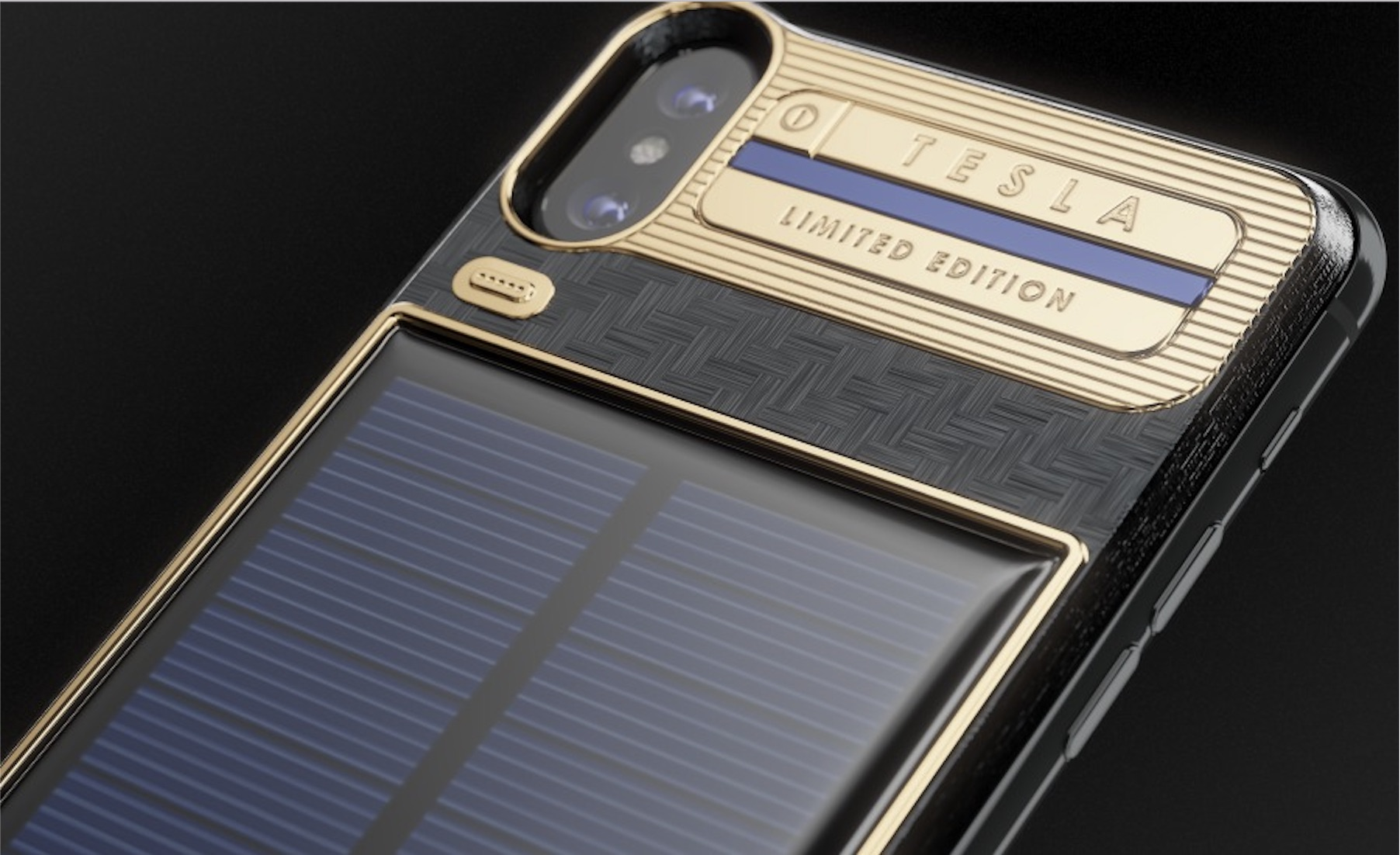 huge selection of 5e627 f0916 iPhone X luxury battery case with integrated solar panel hits market ...