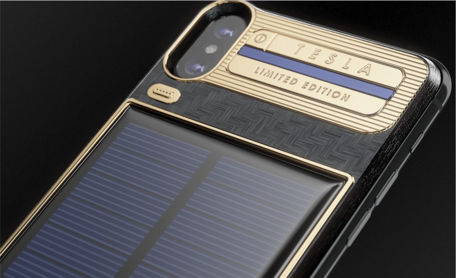 iPhone X luxury battery case with integrated solar panel hits market ... f58fd8f698fd