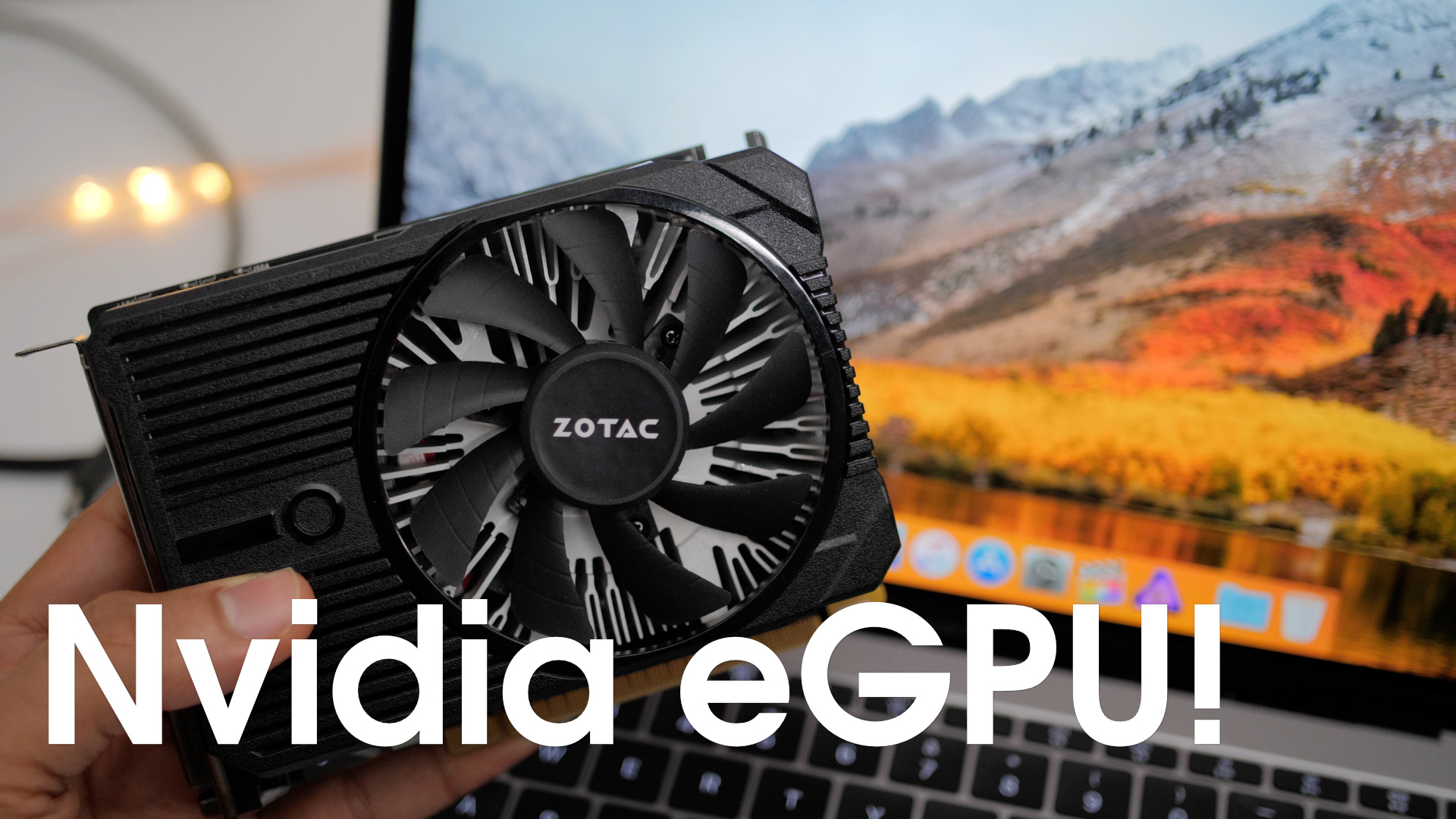 Unofficial NVIDIA eGPU support on macOS arrives w/ impressive