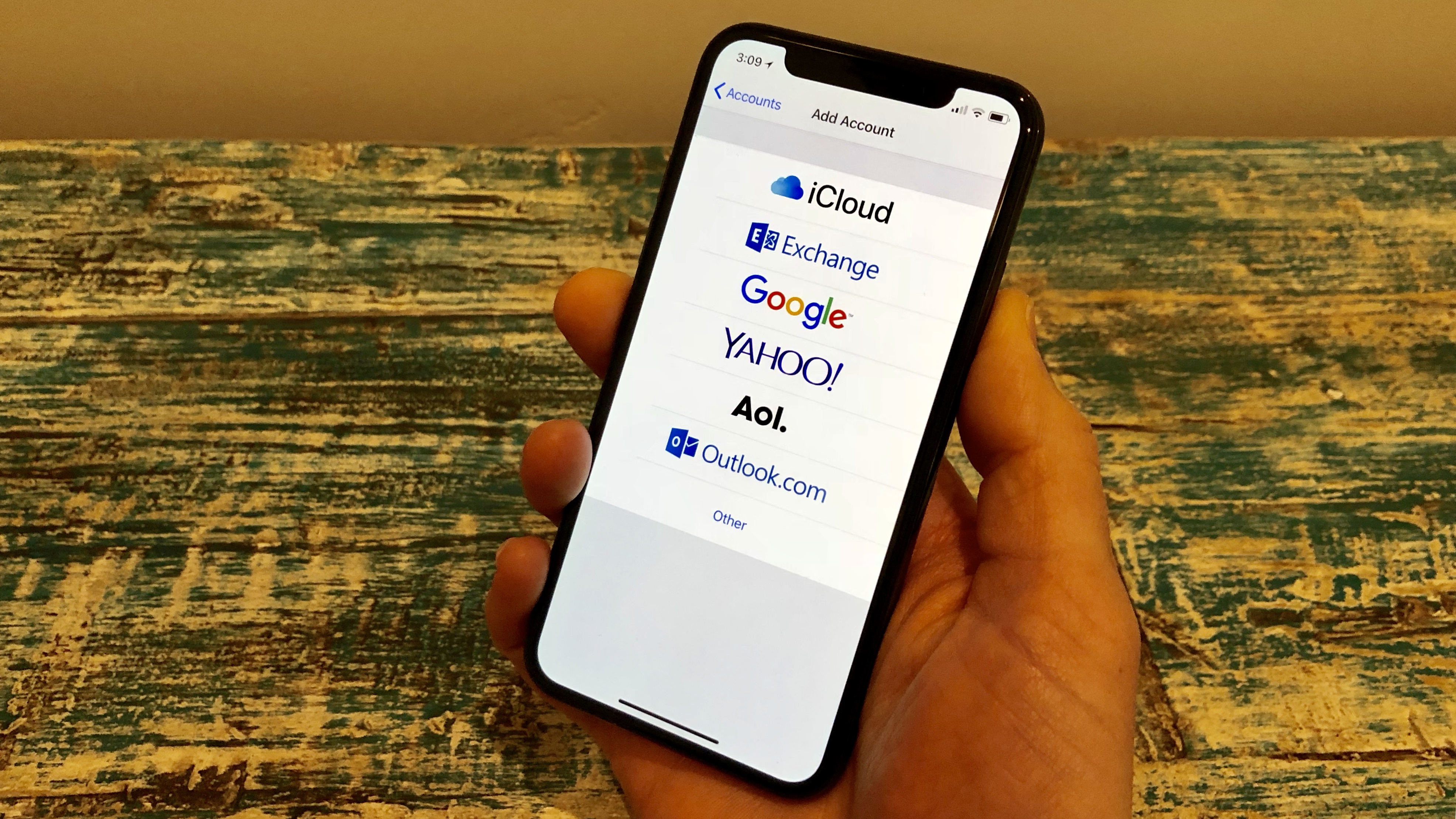 How do i add a new email to my iphone xr