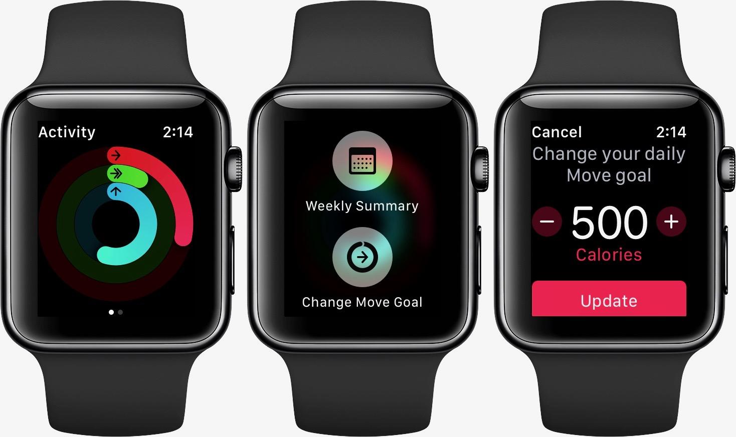 Change Apple Watch exercise goal walkthrough 1