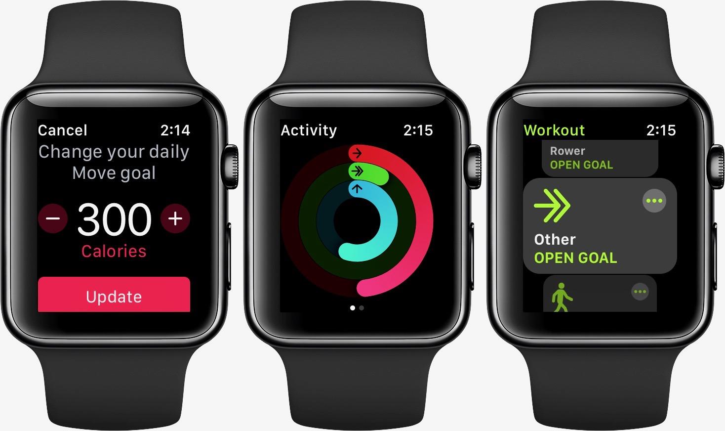 Change Apple Watch exercise goal walkthrough 2