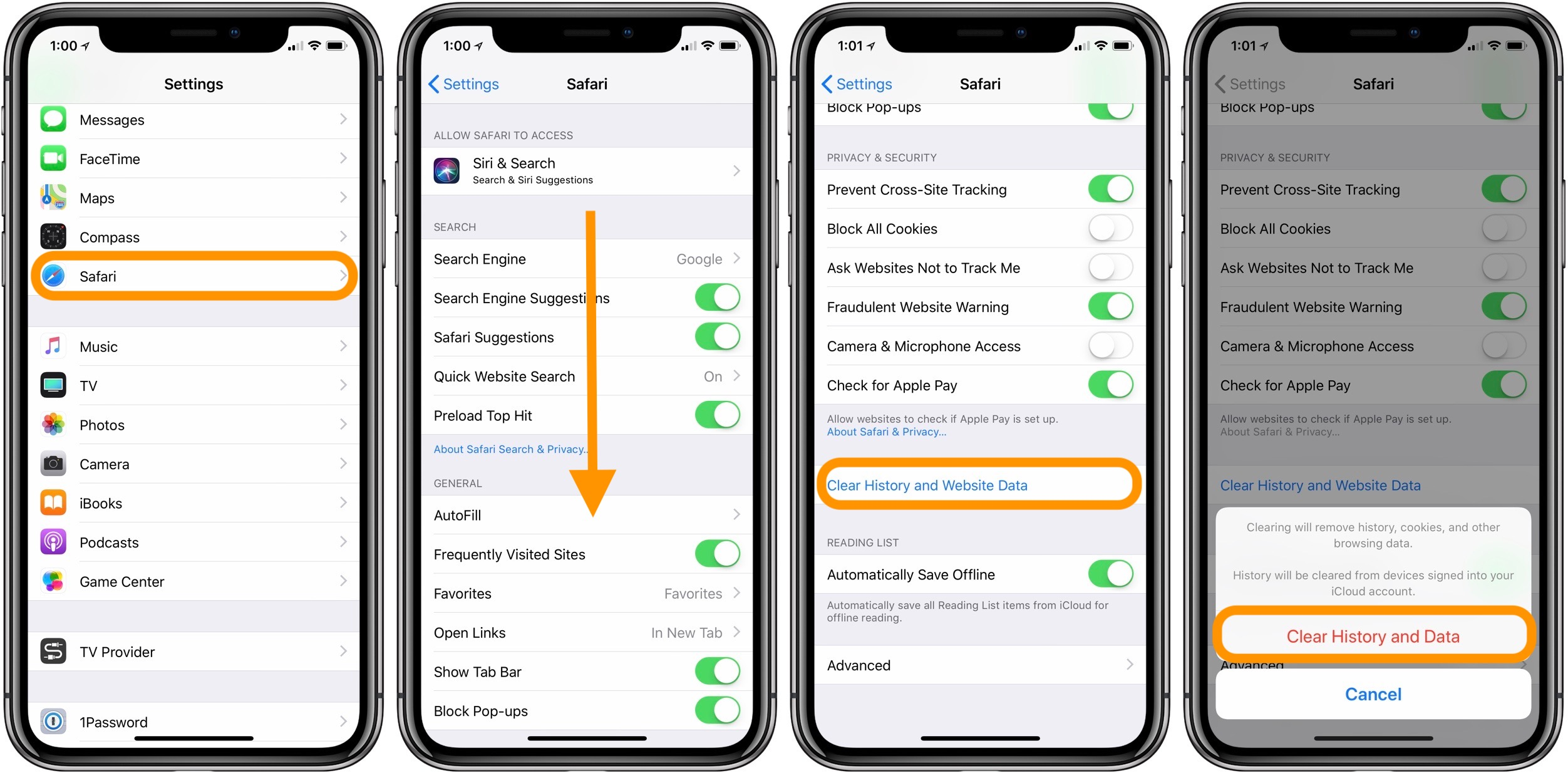 How to clear app cache iphone x