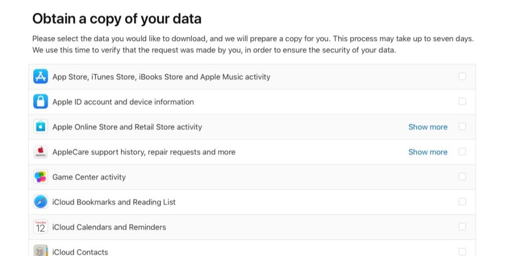 Apple launches new privacy portal, users can download a copy