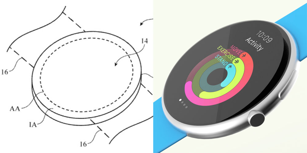 Apple wins patent for round-faced Apple Watch, seemingly not a rejected design