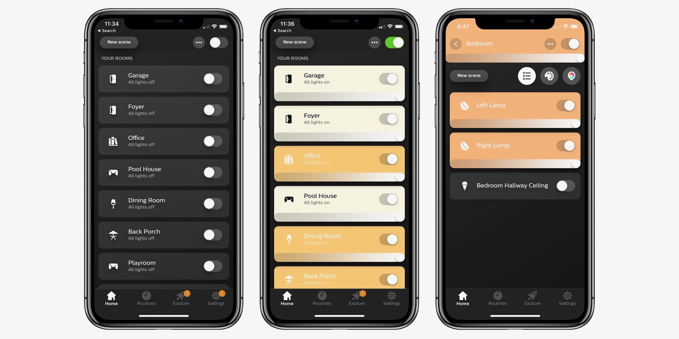 iphone controlled lighting mood lighting philips hue upgrades smart lighting app with refined design fast controls photo scenes