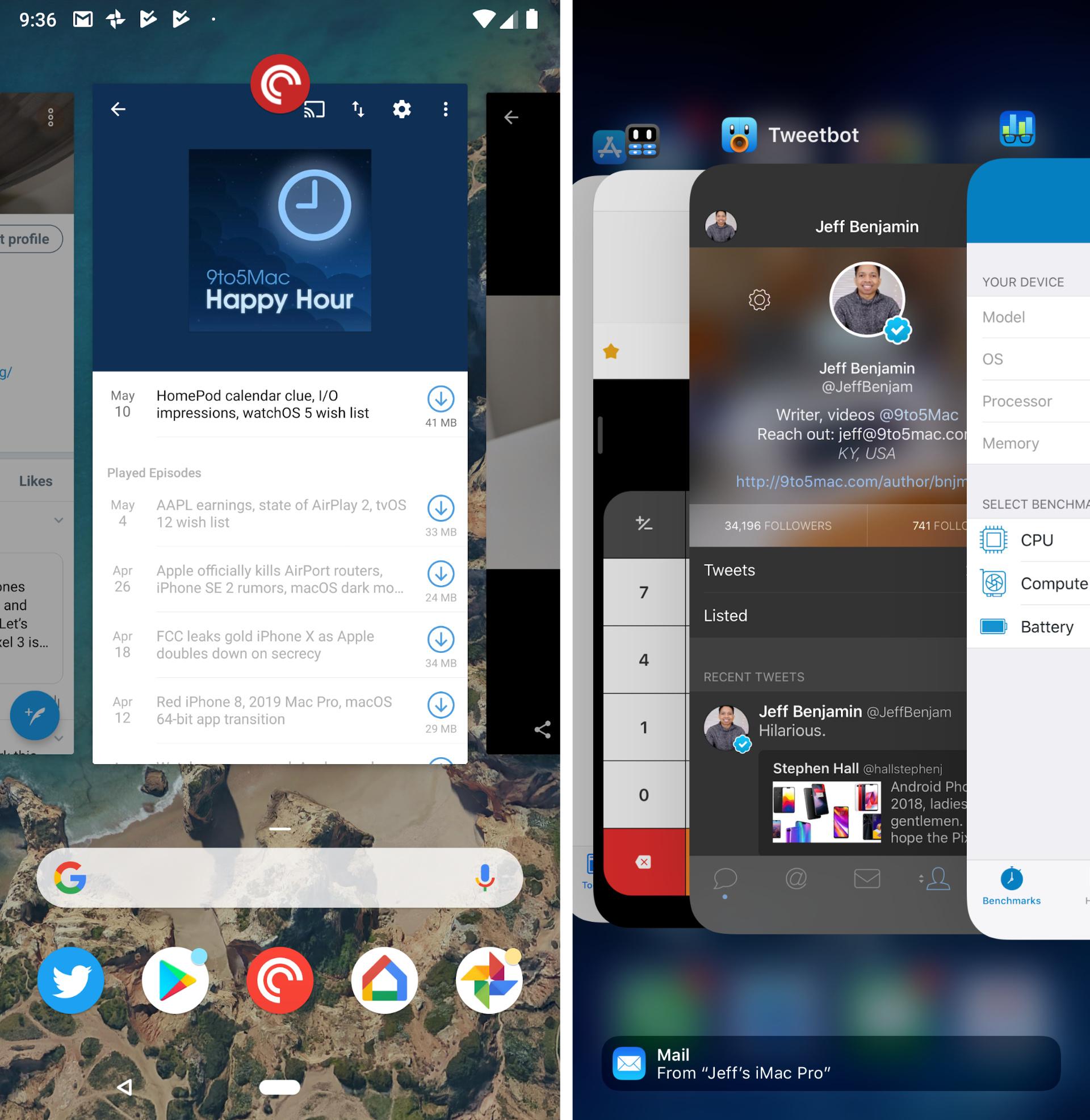 Hands-on: Google Pixel 2 XL Versus IPhone X Multitasking