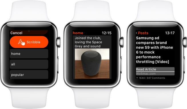 hands on nano brings the full reddit experience to apple watch