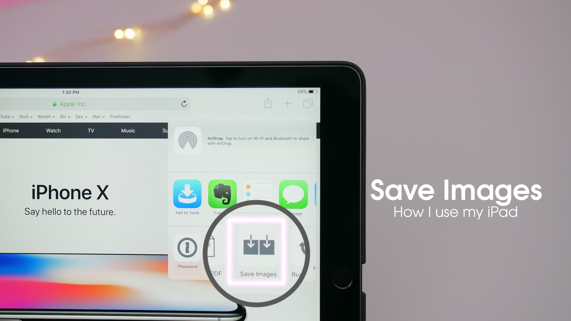 How I use my iPad: Save Images - a free Safari image