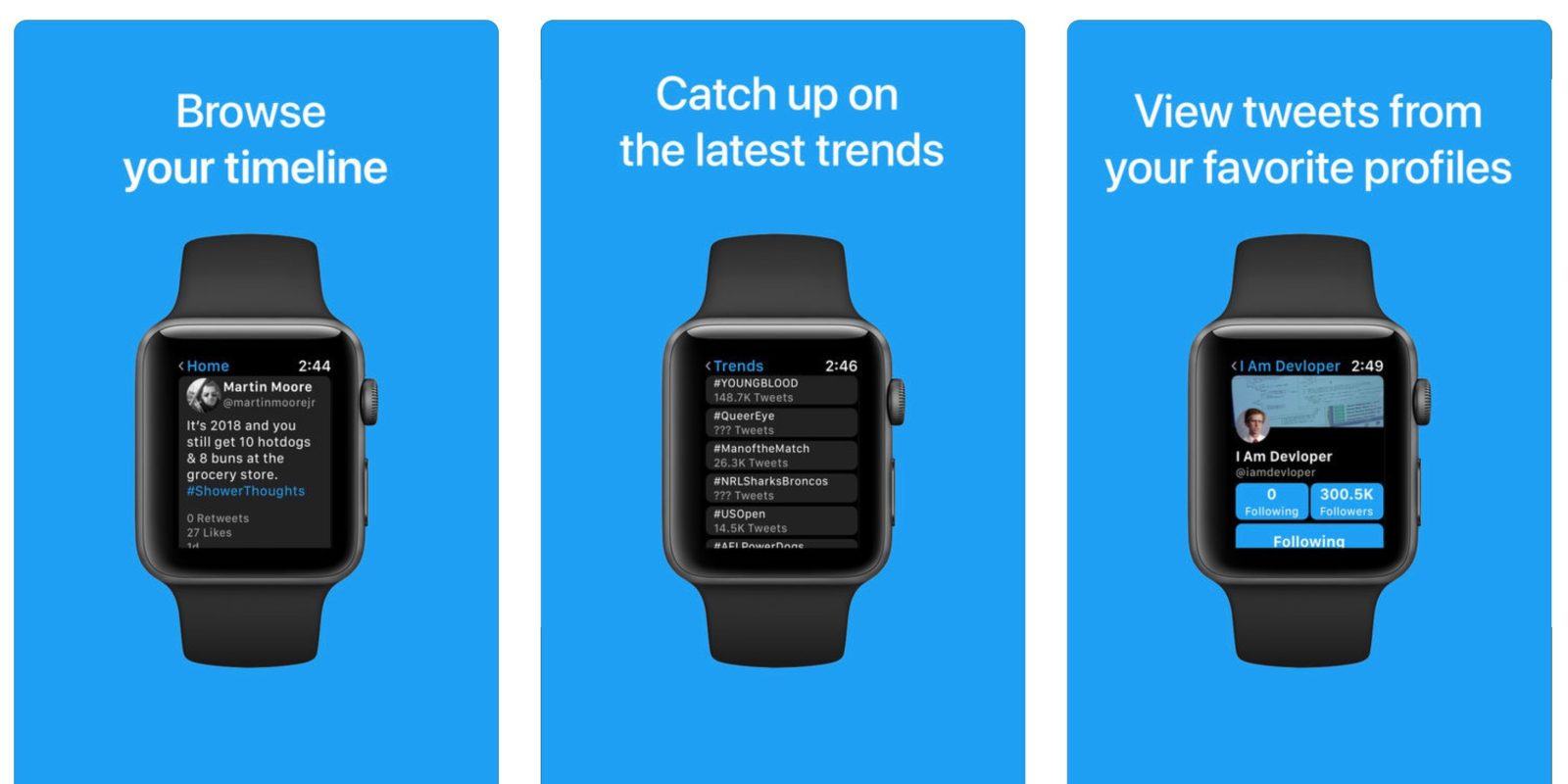 fcd76d4f24 Chirp is a new app that aims to bring full Twitter support to Apple Watch