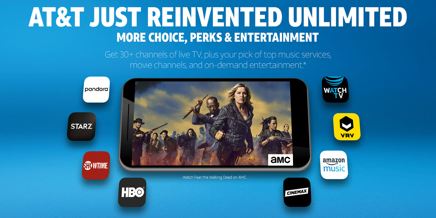 AT&T launches WatchTV, 'unlimited' mobile plans with 30+ TV