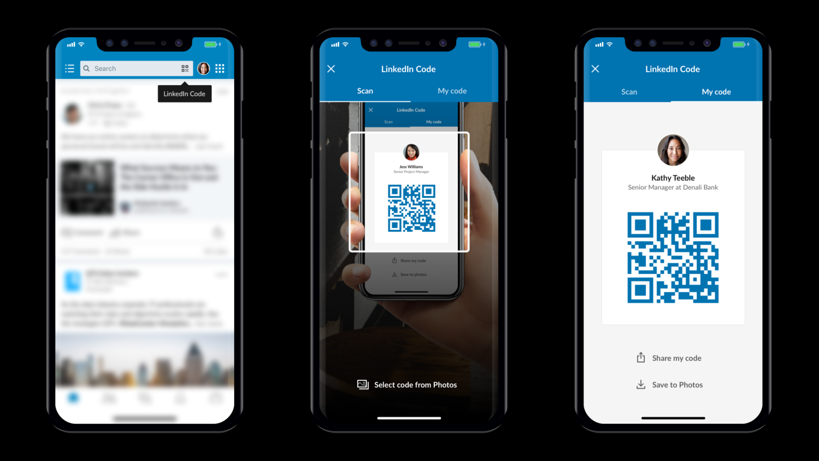 Linkedin app turns your profile into a digital business card with qr linkedin app turns your profile into a digital business card with qr codes colourmoves