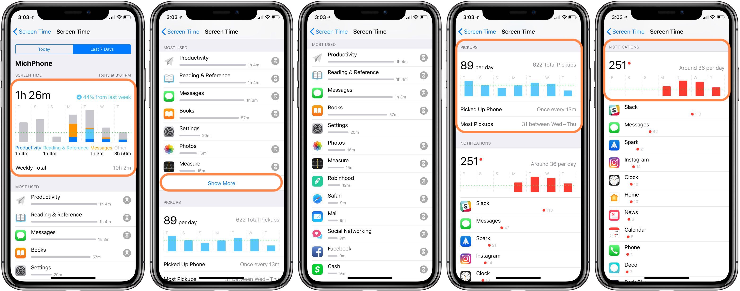 how to get the apps and data screen on iphone
