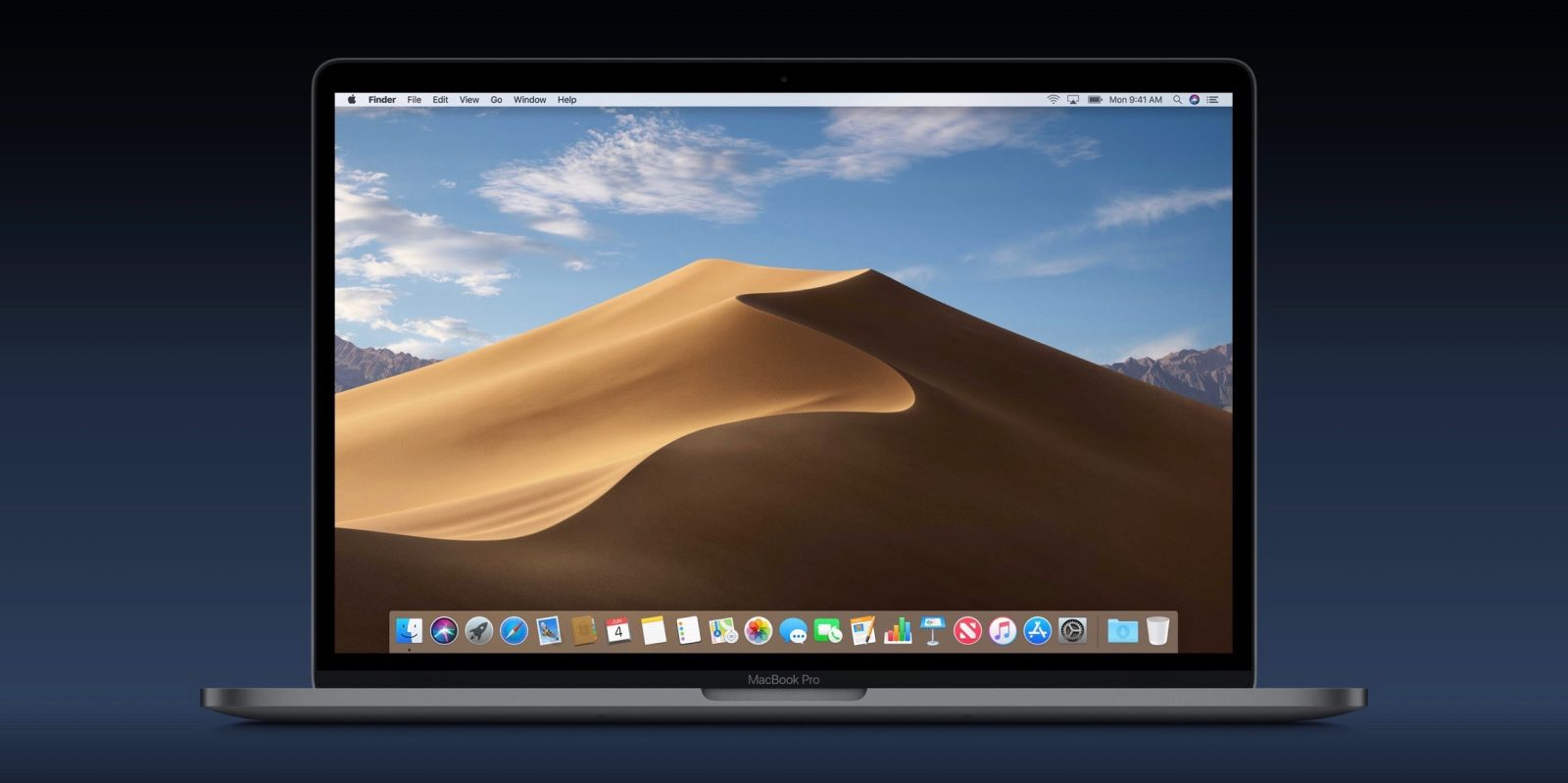 macOS Mojave includes two desert-themed wallpapers, download here