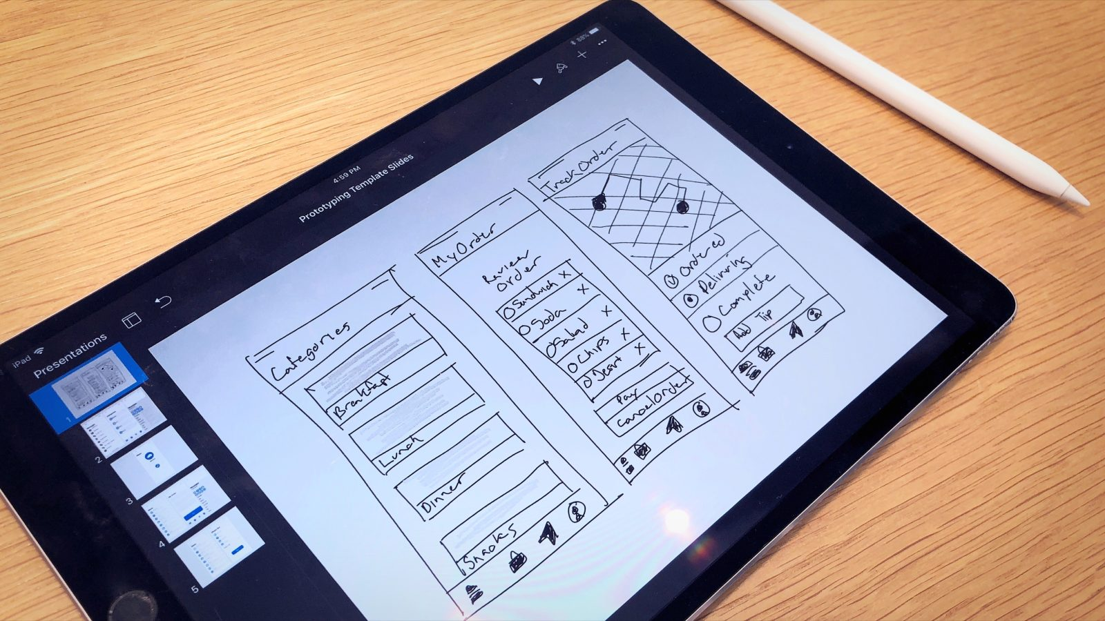 Trying Today at Apple's new app prototyping with Keynote session