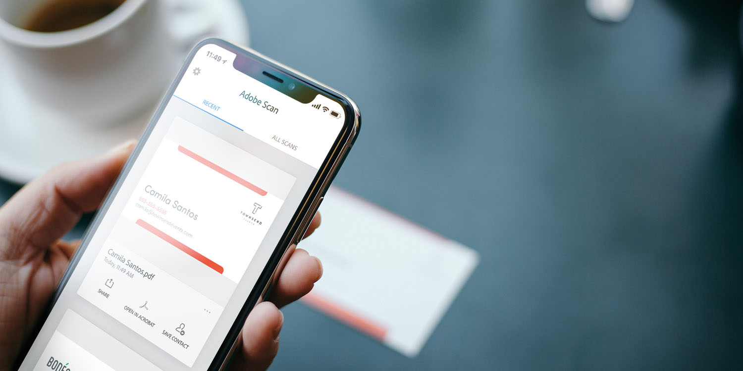Adobe scan ios app can now scan business cards to contacts with 99 adobe scan ios app can now scan business cards to contacts with 99 accuracy reheart Image collections